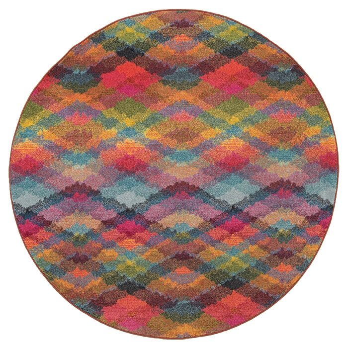 Alcantar Pink Area Rug Rug Size: Round 7'10