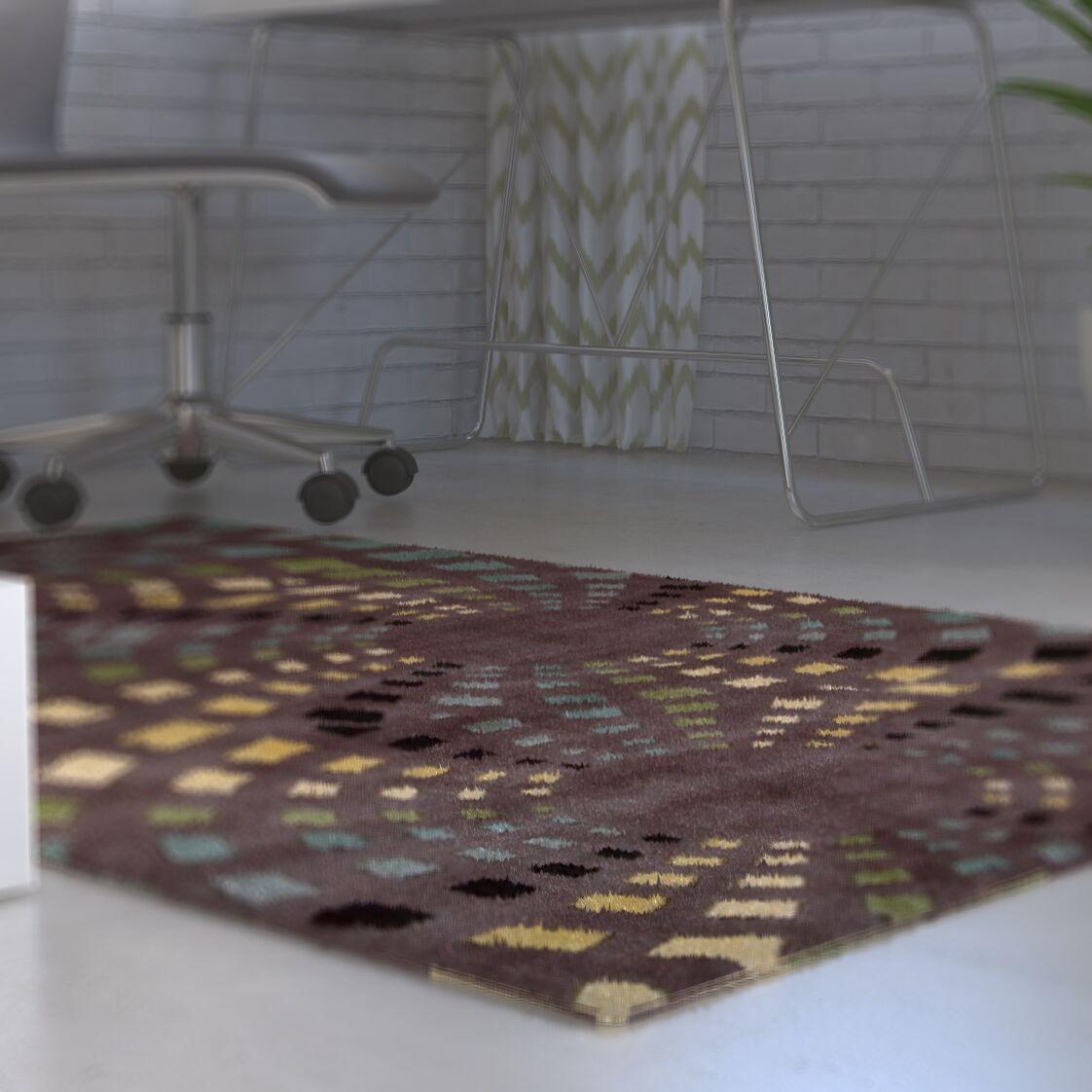Adelina Chocolate Area Rug Rug Size: Rectangle 7'9