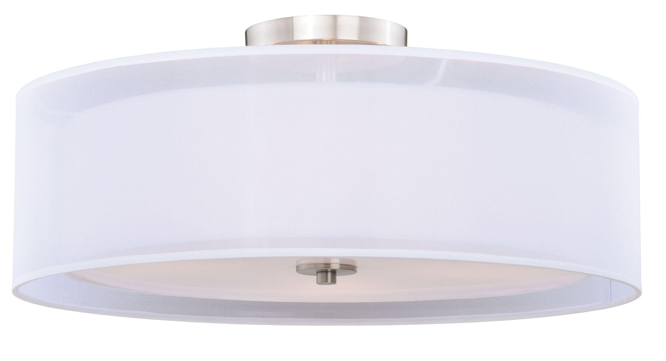Melcher 4-Light Semi Flush Mount Size: 12.75