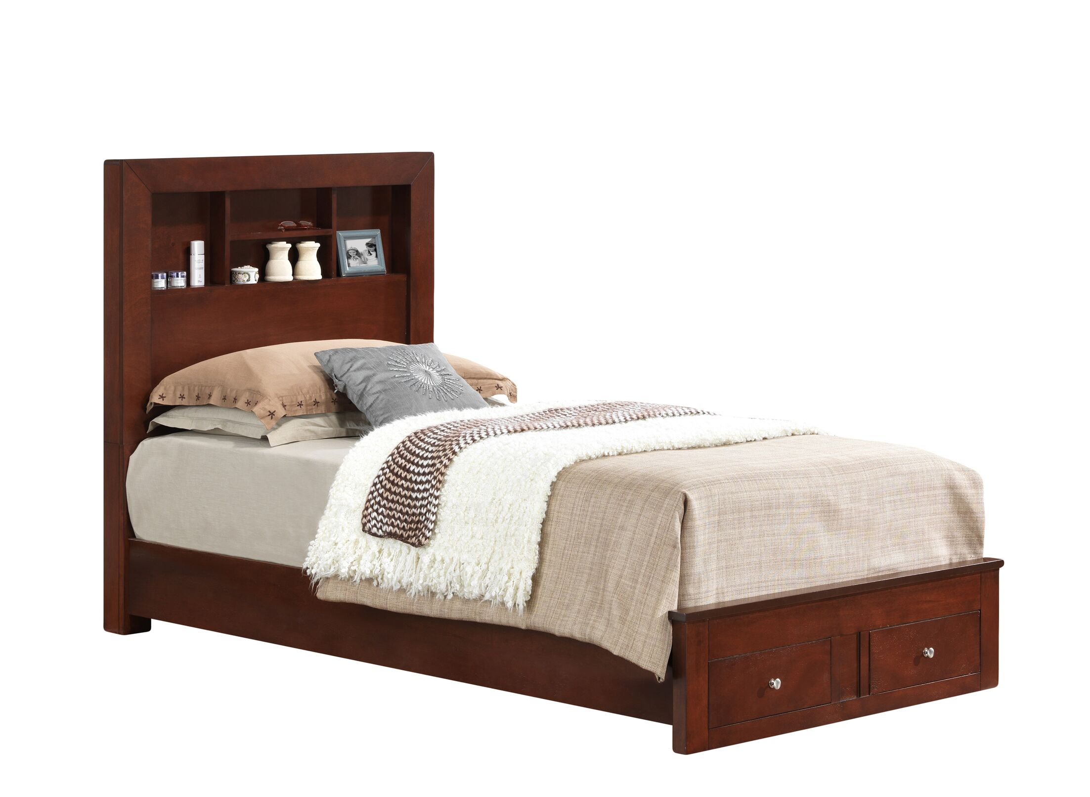 Brennen Storage Platform Bed Color: Cherry, Size: Twin