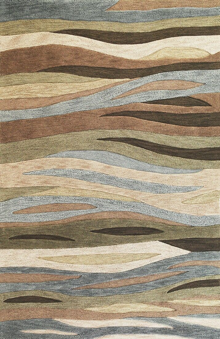 Pangkal Pinang Green Breeze Area Rug Rug Size: Rectangle 3'3