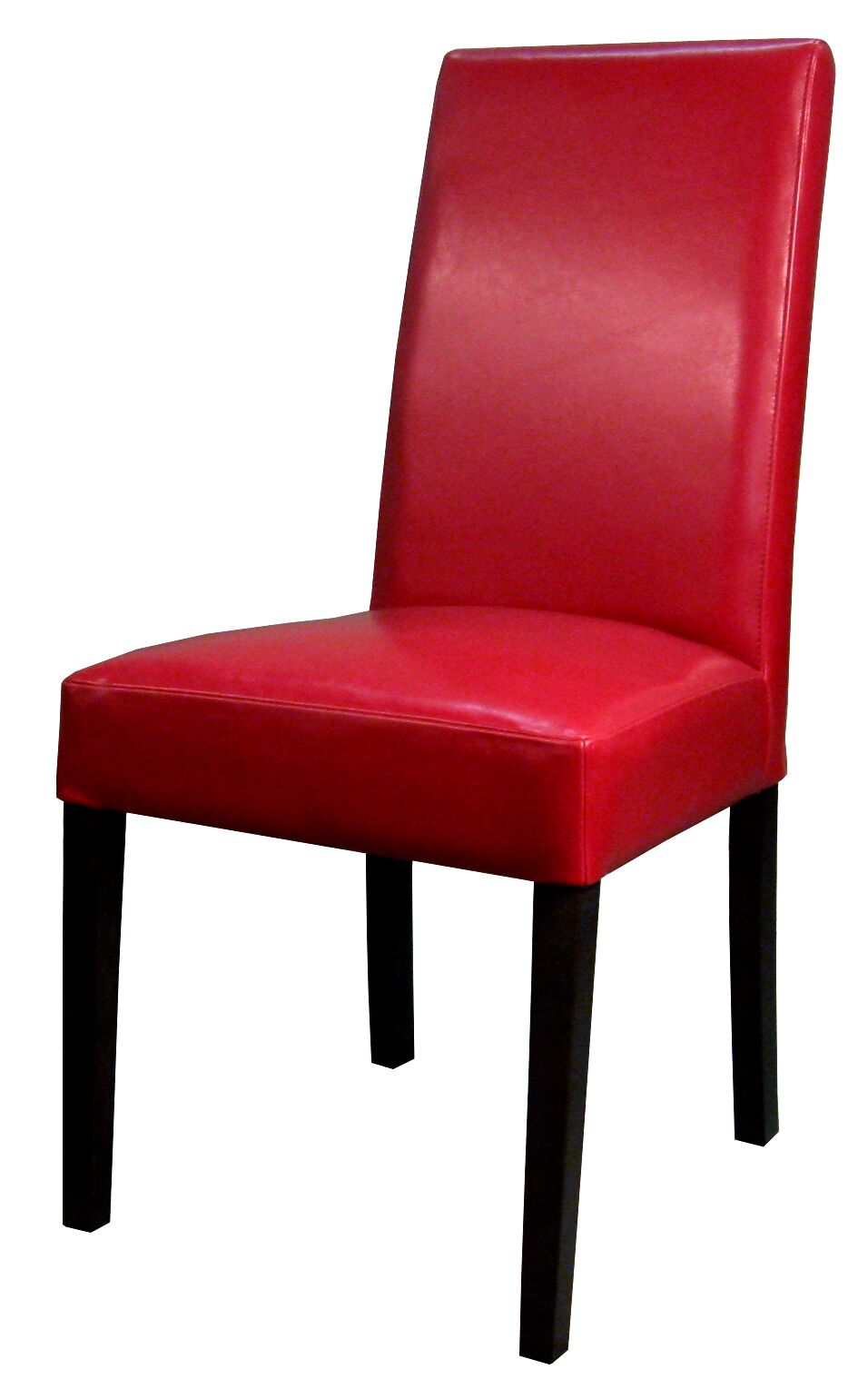 Mercado Genuine Leather Upholstered Dining Chair Color: Red