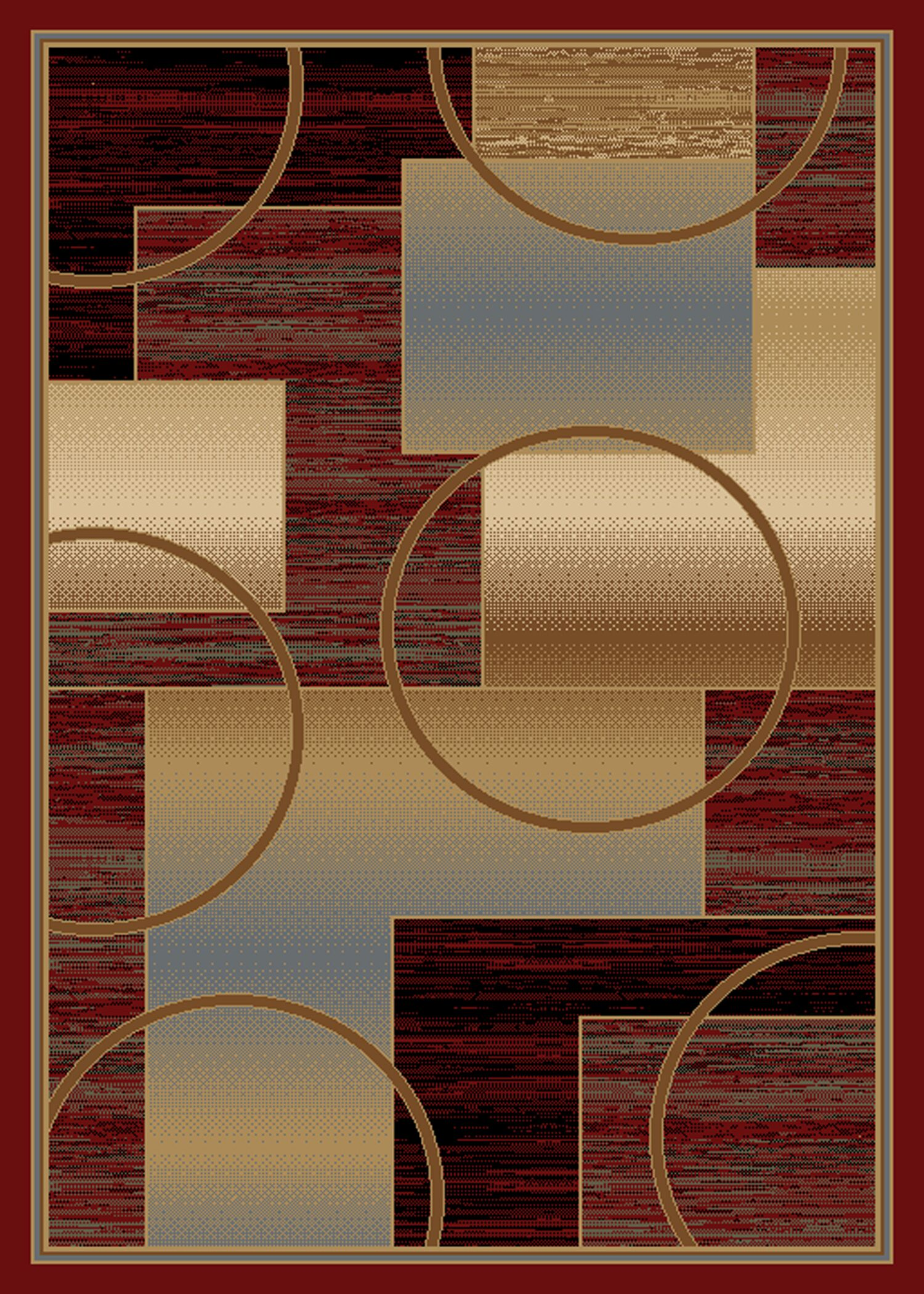 Jordan Red Area Rug Rug Size: 8' x 10'