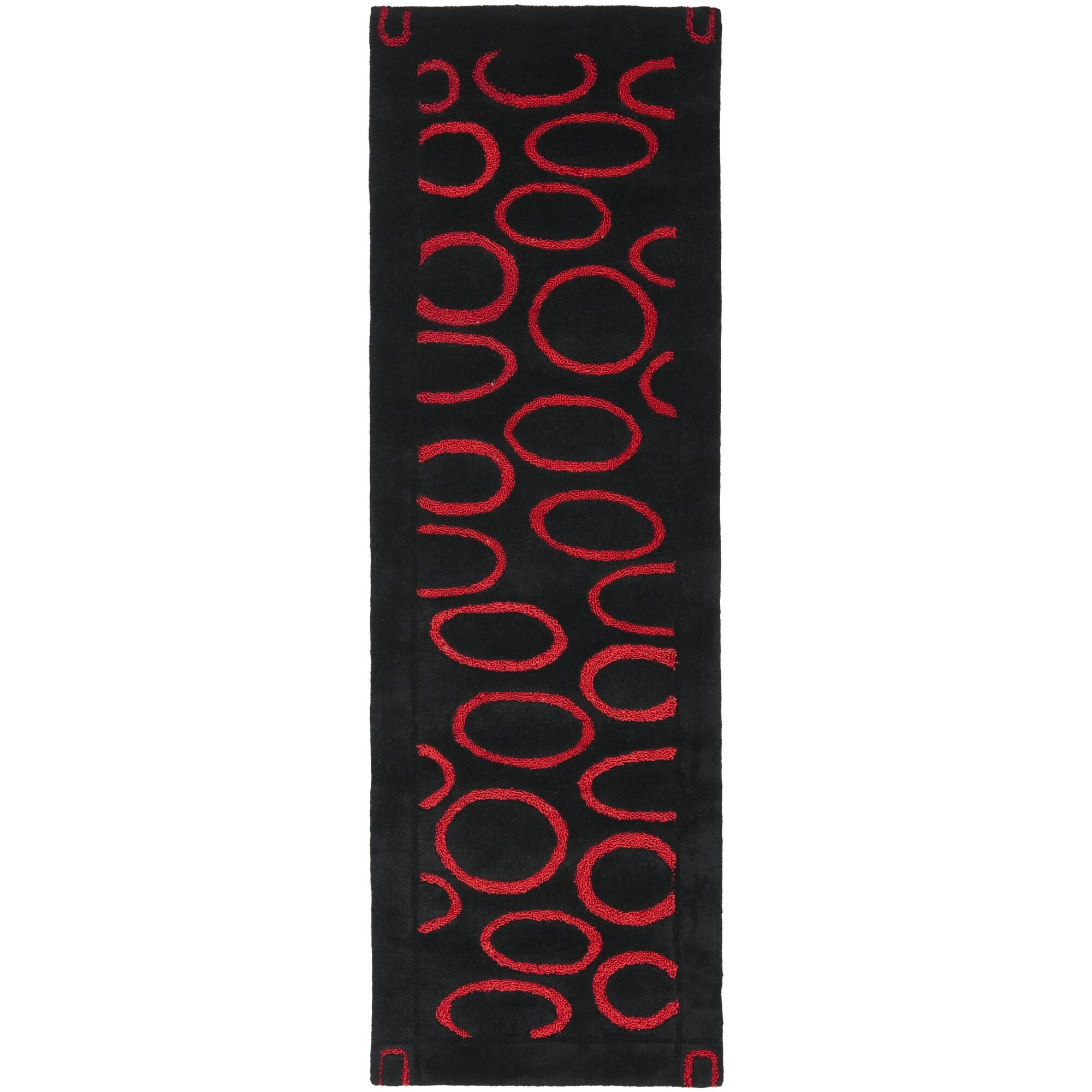 Armstrong Black/Red Area Rug Rug Size: Runner 2'6