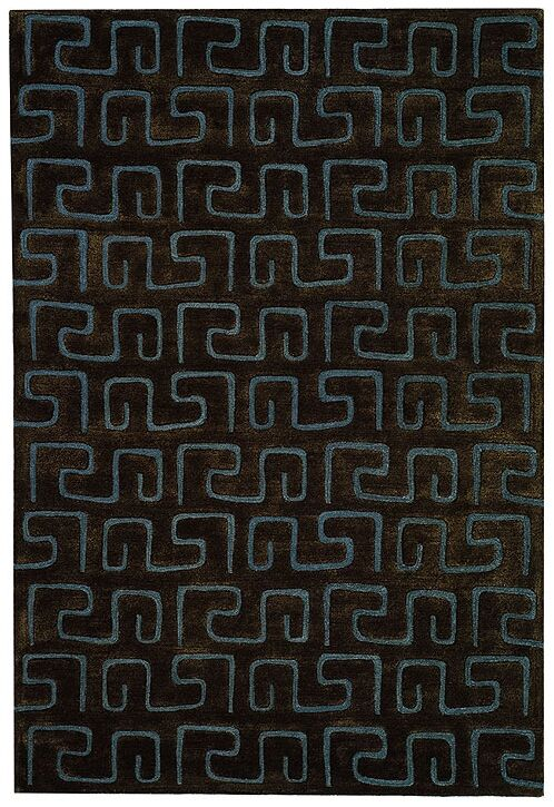Armstrong Hand-Tufted Brown Area Rug Rug Size: Rectangle 3'6