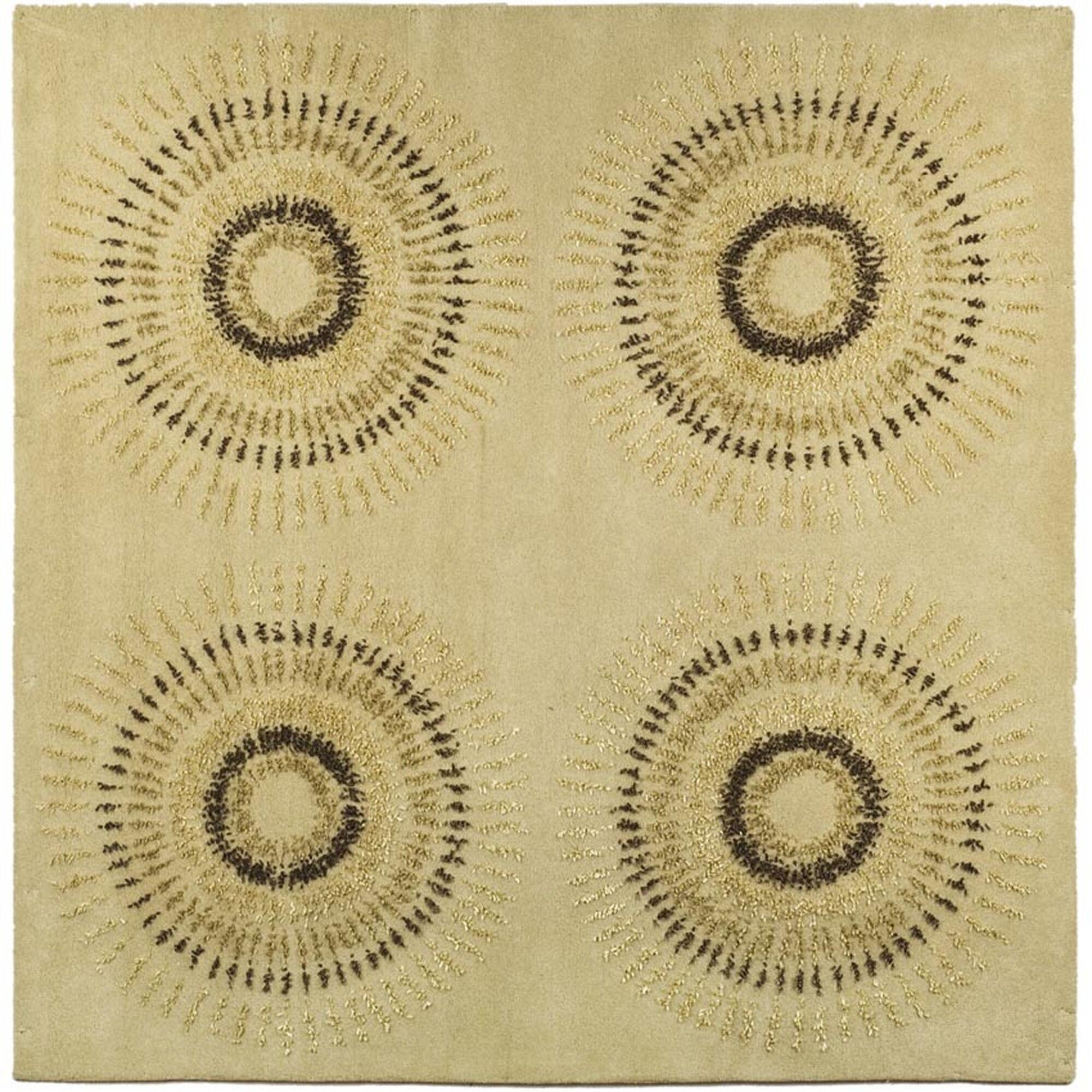 Dorthy Beige/Gold Area Rug Rug Size: Square 8'
