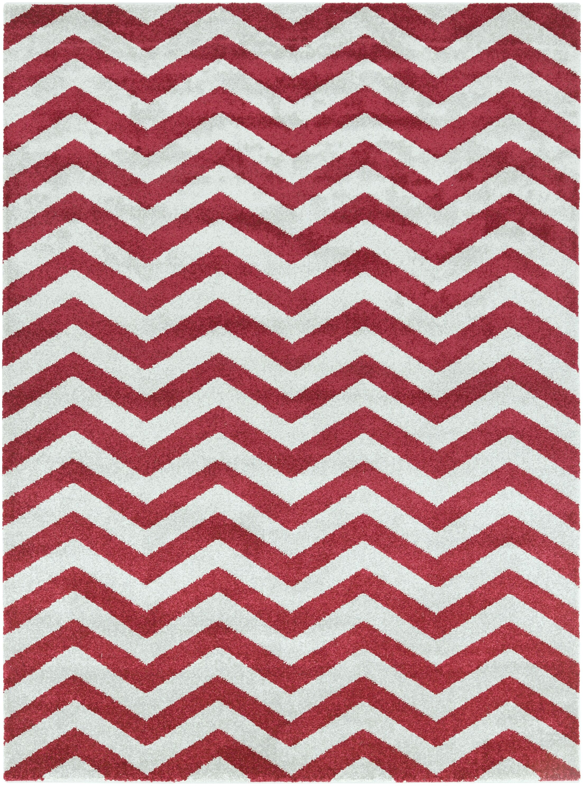 Greer Cherry Chevron Area Rug Rug Size: Rectangle 9'3