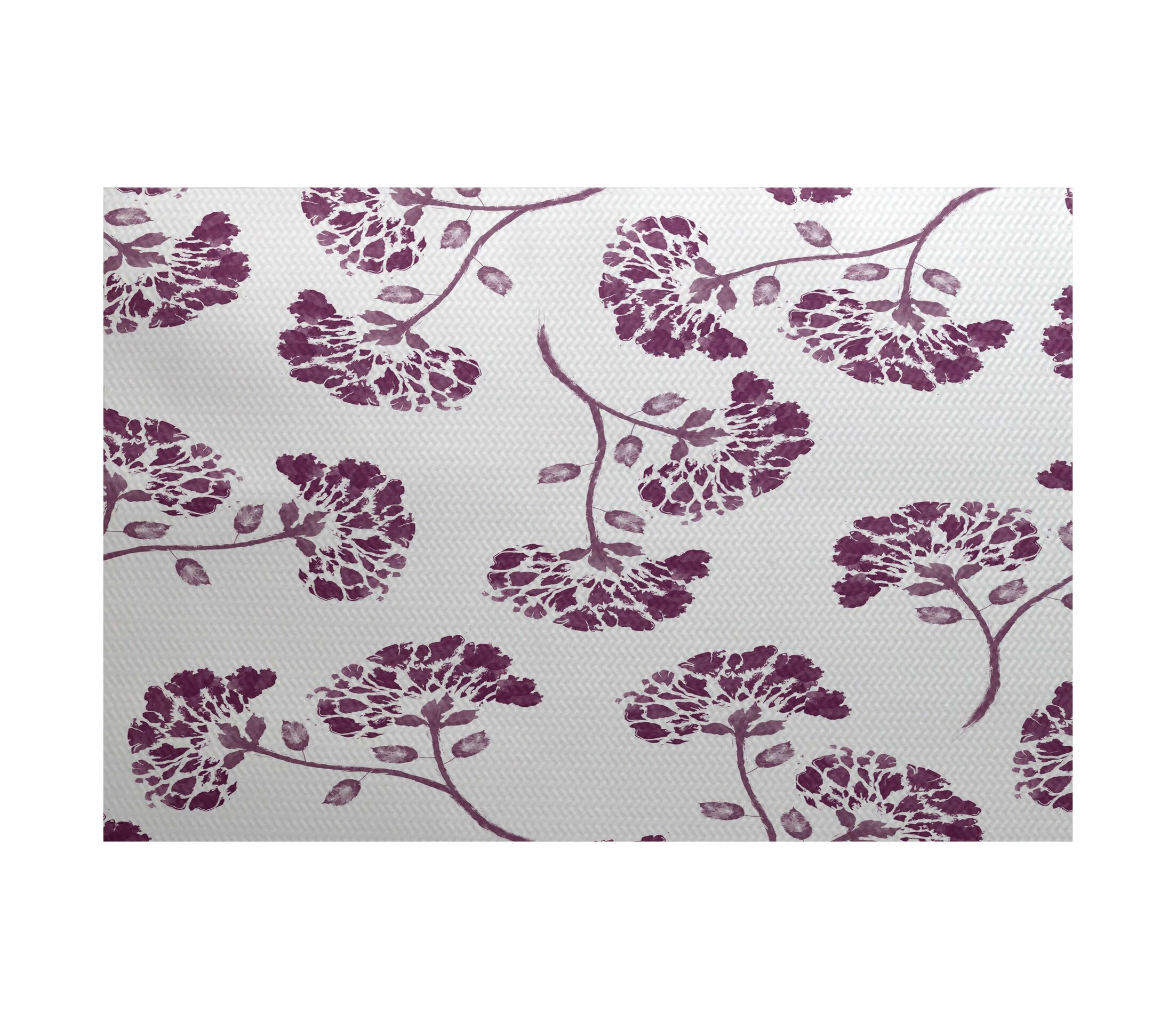 Otani Purple/White Indoor/Outdoor Area Rug Rug Size: Rectangle 3' x 5'