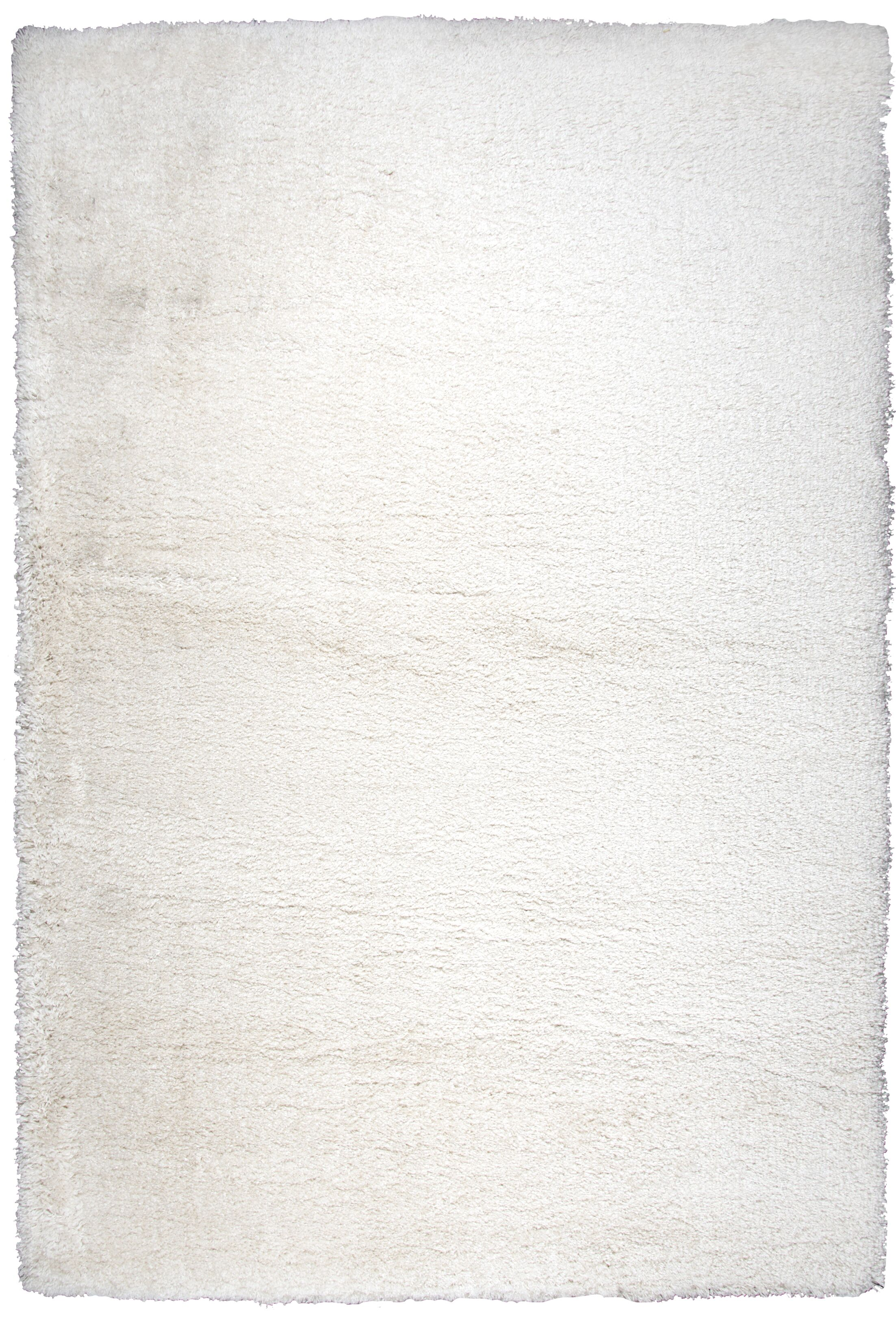 Thalia Cream Shag Area Rug Rug Size: Rectangle 5'3