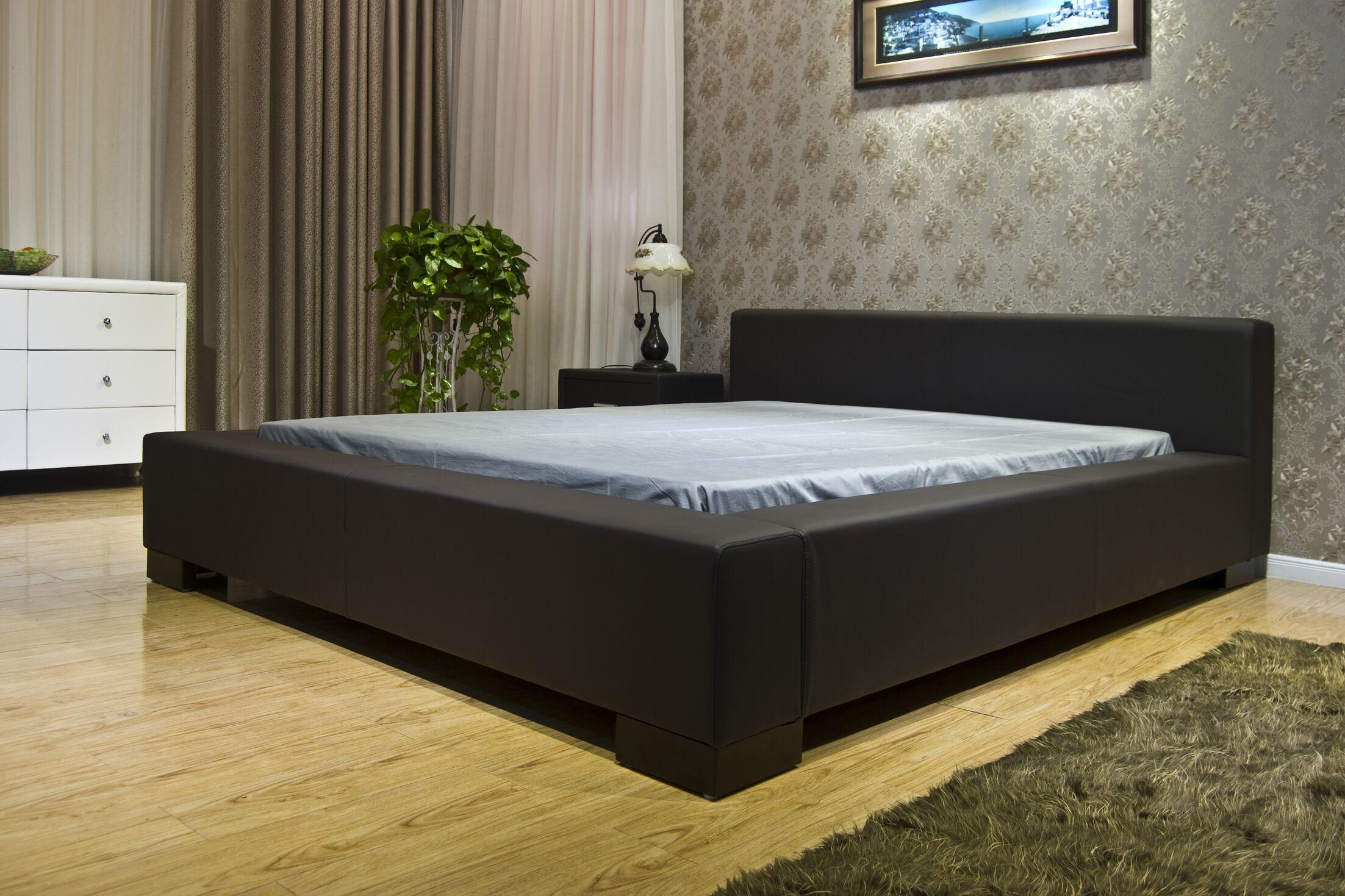 Astor Upholstered Platform Bed Color: Dark Brown, Size: King