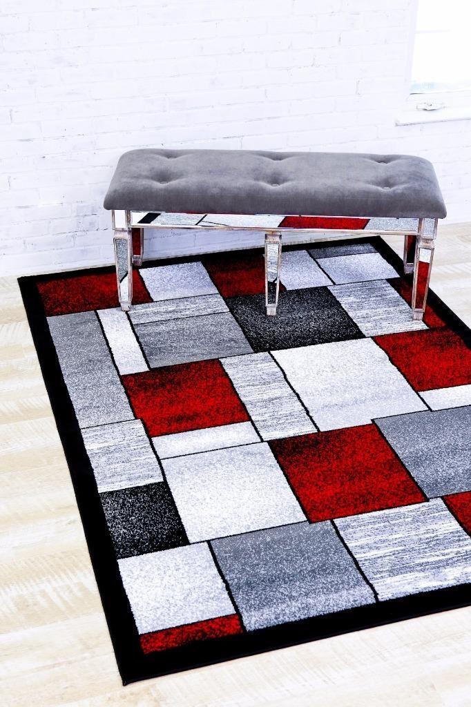 Bennet Red/Gray Indoor/Outdoor Area Rug Rug Size: 5'2
