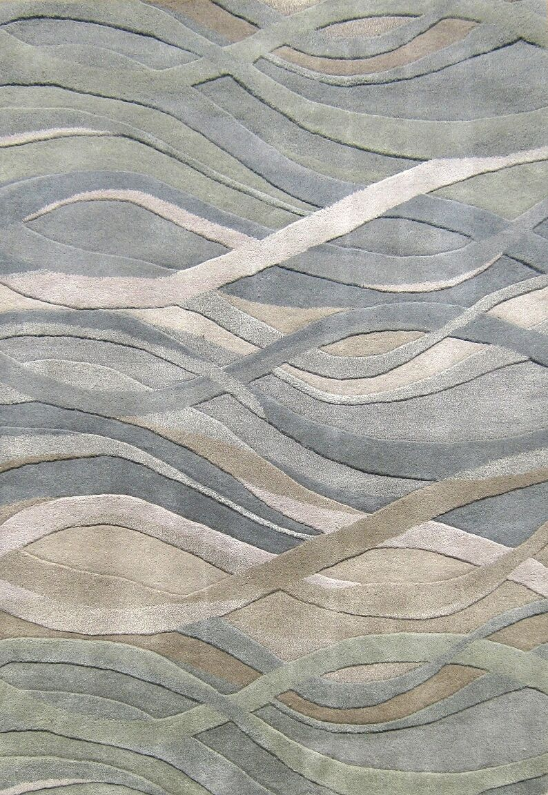 Gilliam Hand-Tufted Green Area Rug Rug Size: Rectangle 9' x 12'