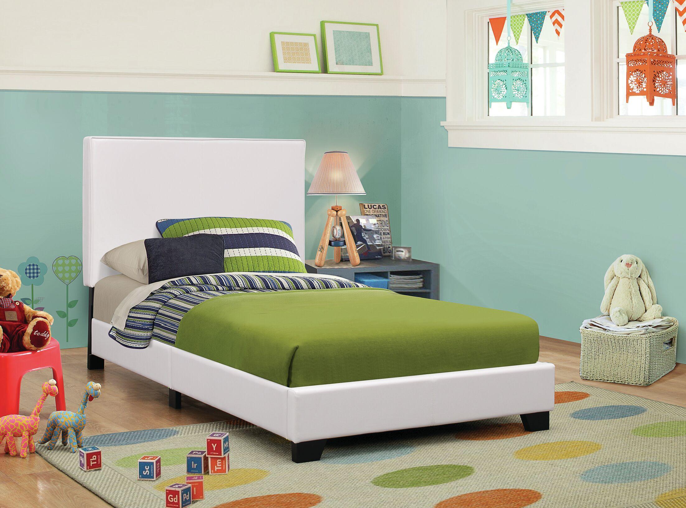 Blanchard Upholstered Platform Bed Size: Full, Color: White