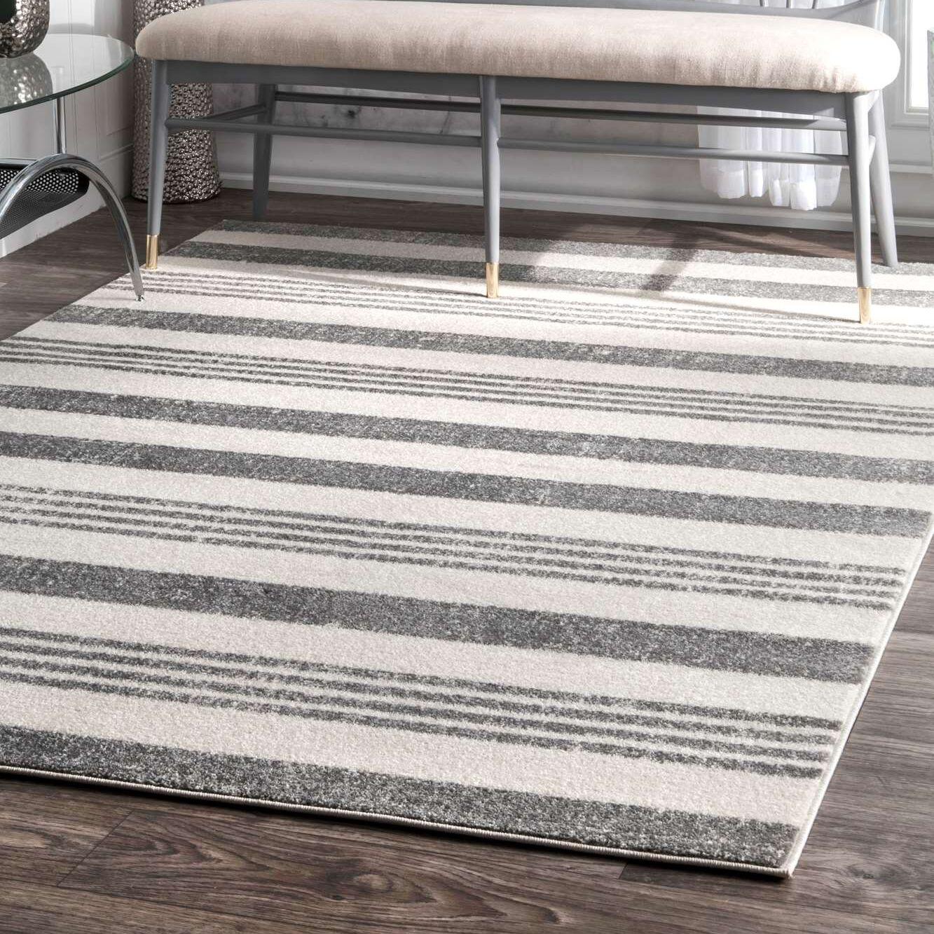 Hayley Gray/Ivory Area Rug Rug Size: Rectangle 9' x 12'