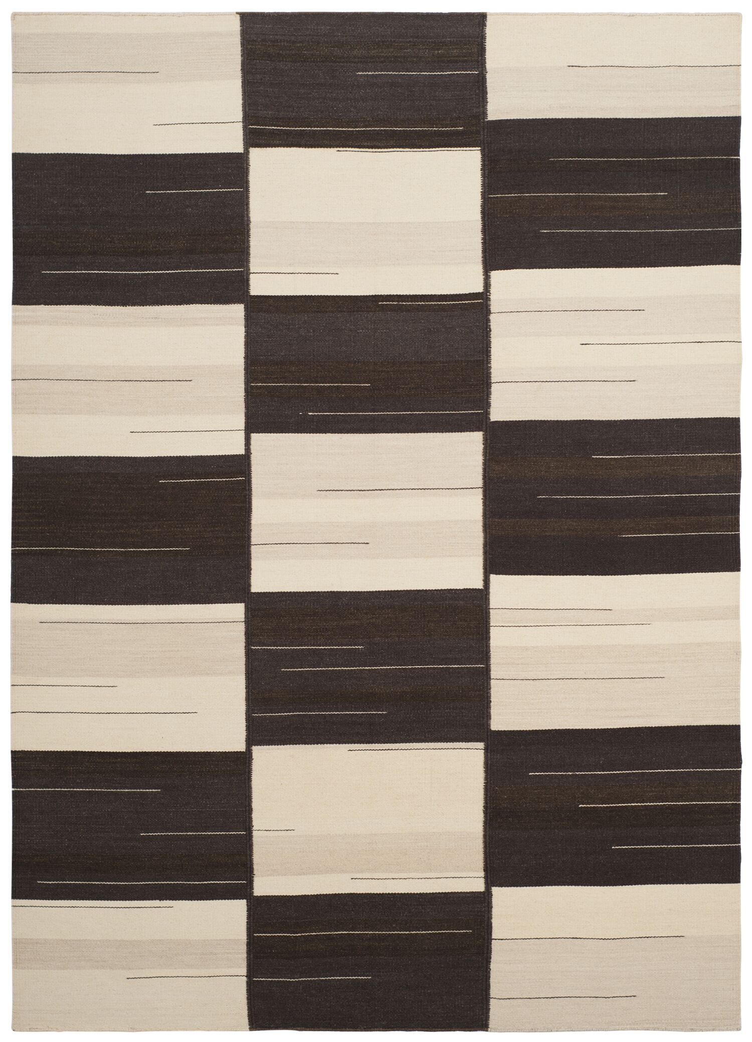 Amerina Hand-Woven Beige/Brown Area Rug Rug Size: Rectangle 5' x 8'