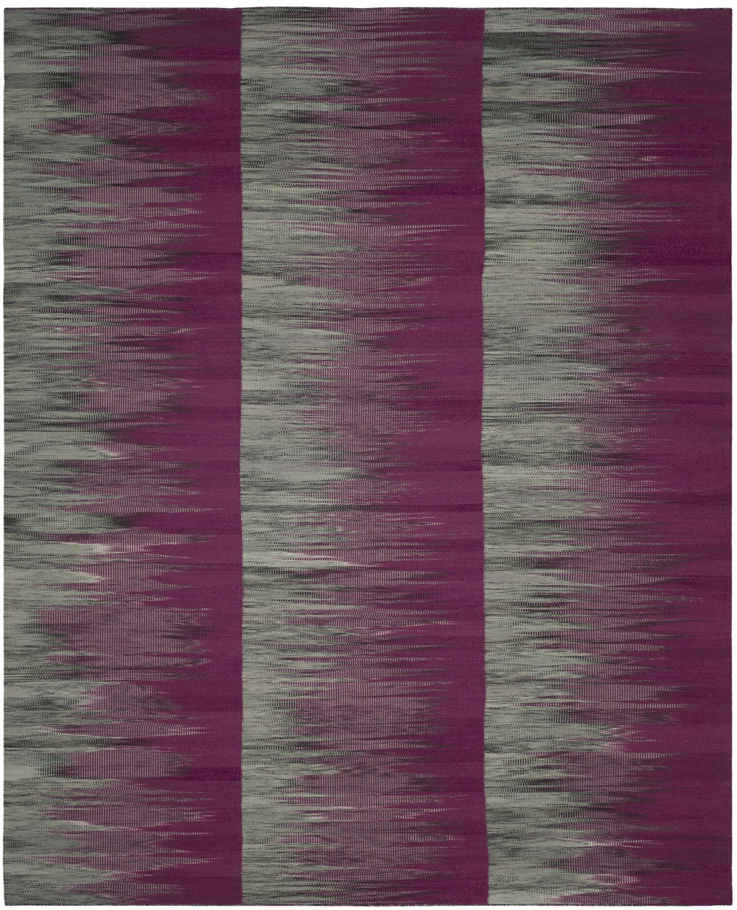 Amerina Hand-Woven Purple/Charcoal Area Rug Rug Size: Rectangle 8' x 10'