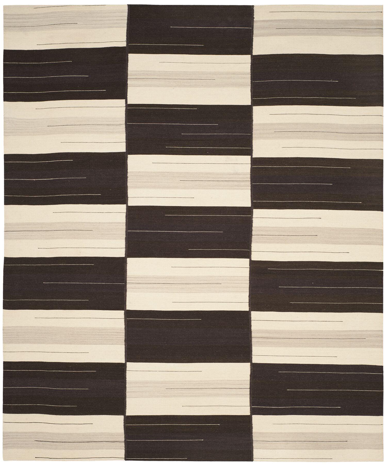 Amerina Hand-Woven Beige/Brown Area Rug Rug Size: Rectangle 8' x 10'
