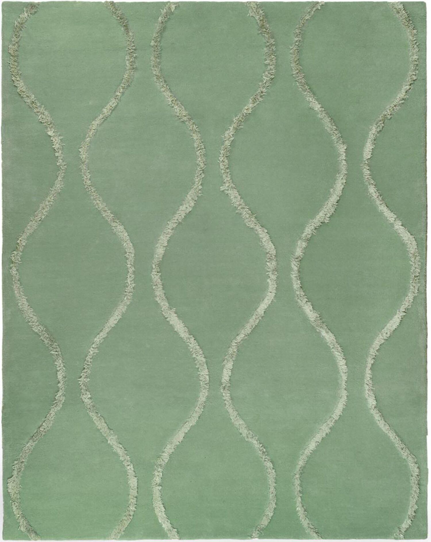 Woodburn Aqua / Green Contemporary Rug Rug Size: Rectangle 7'6
