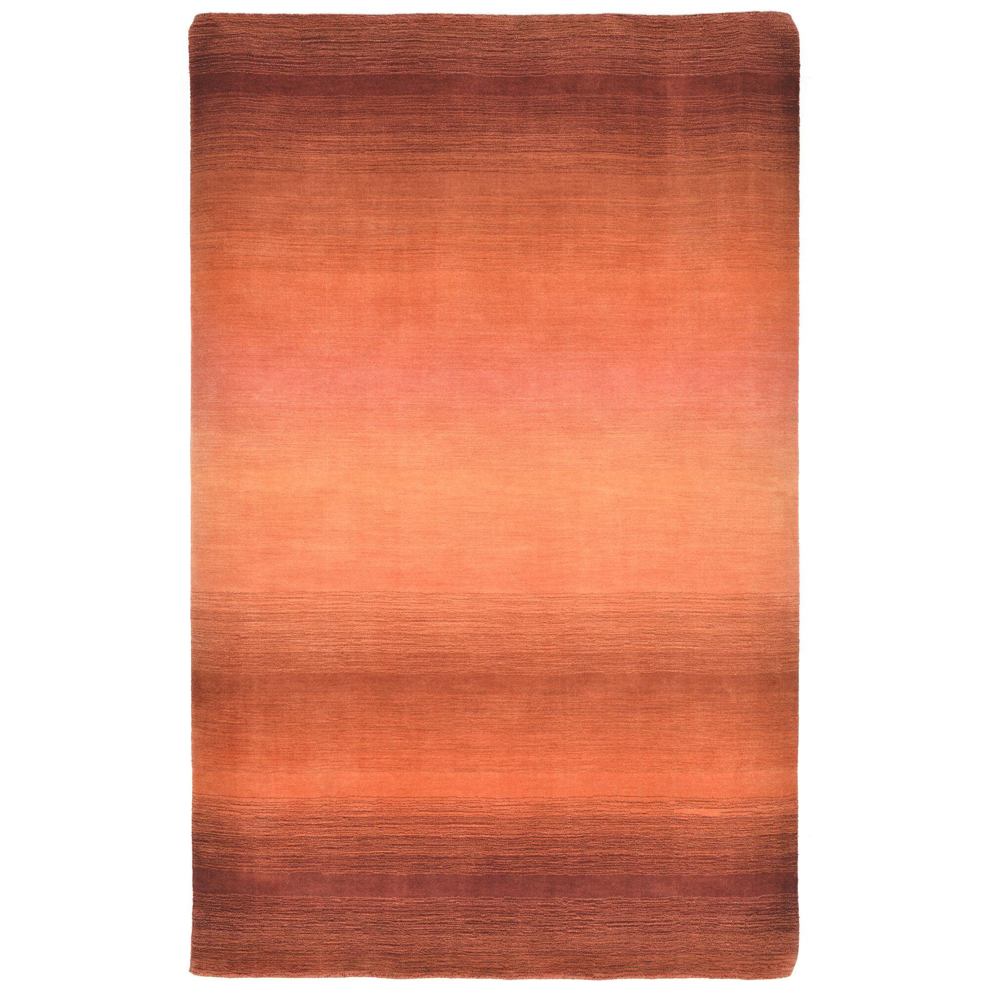 Hansford Hand-Loomed Orange Area Rug Rug Size: 5' x 8'