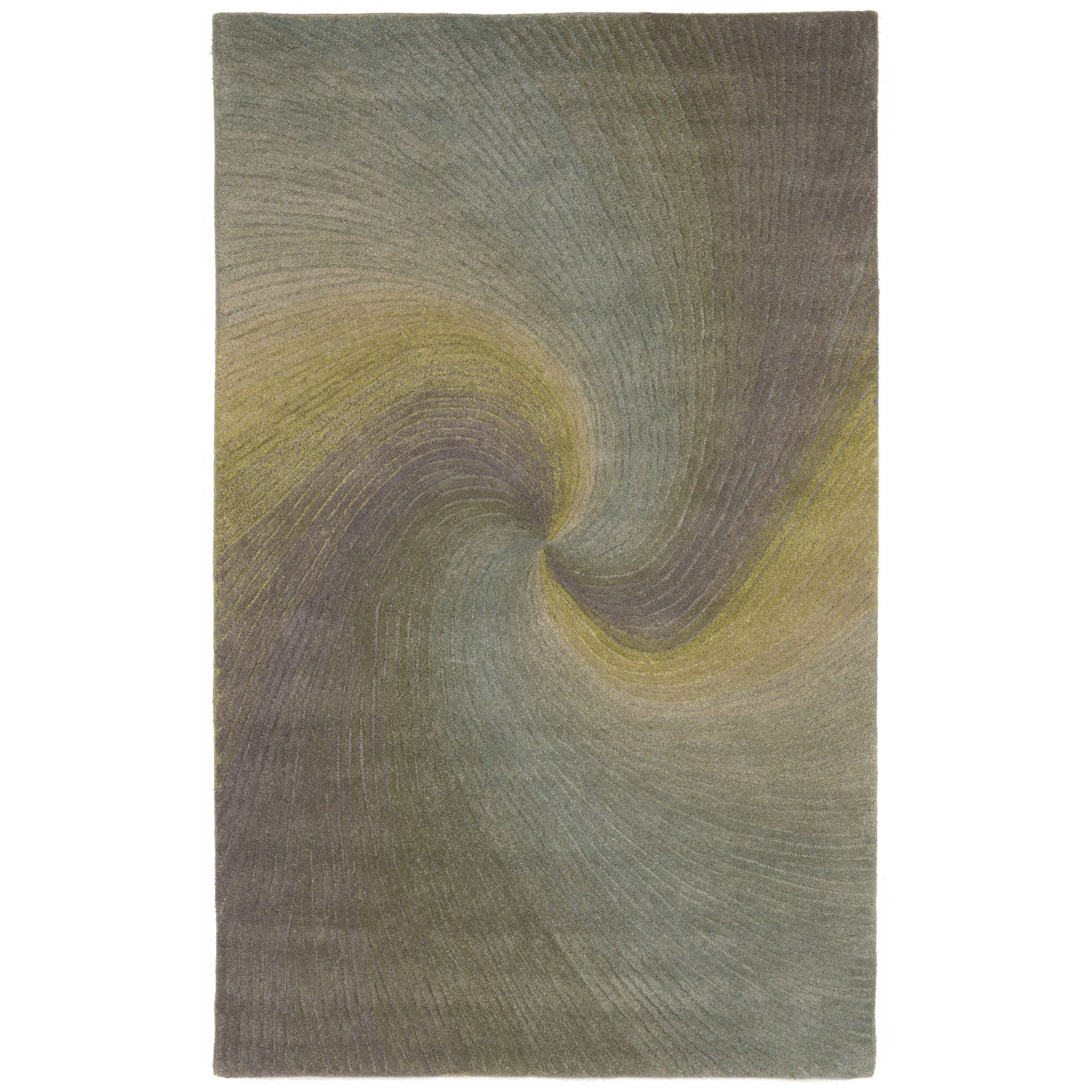 Richmond River Gray Waves Area Rug Rug Size: 3'6
