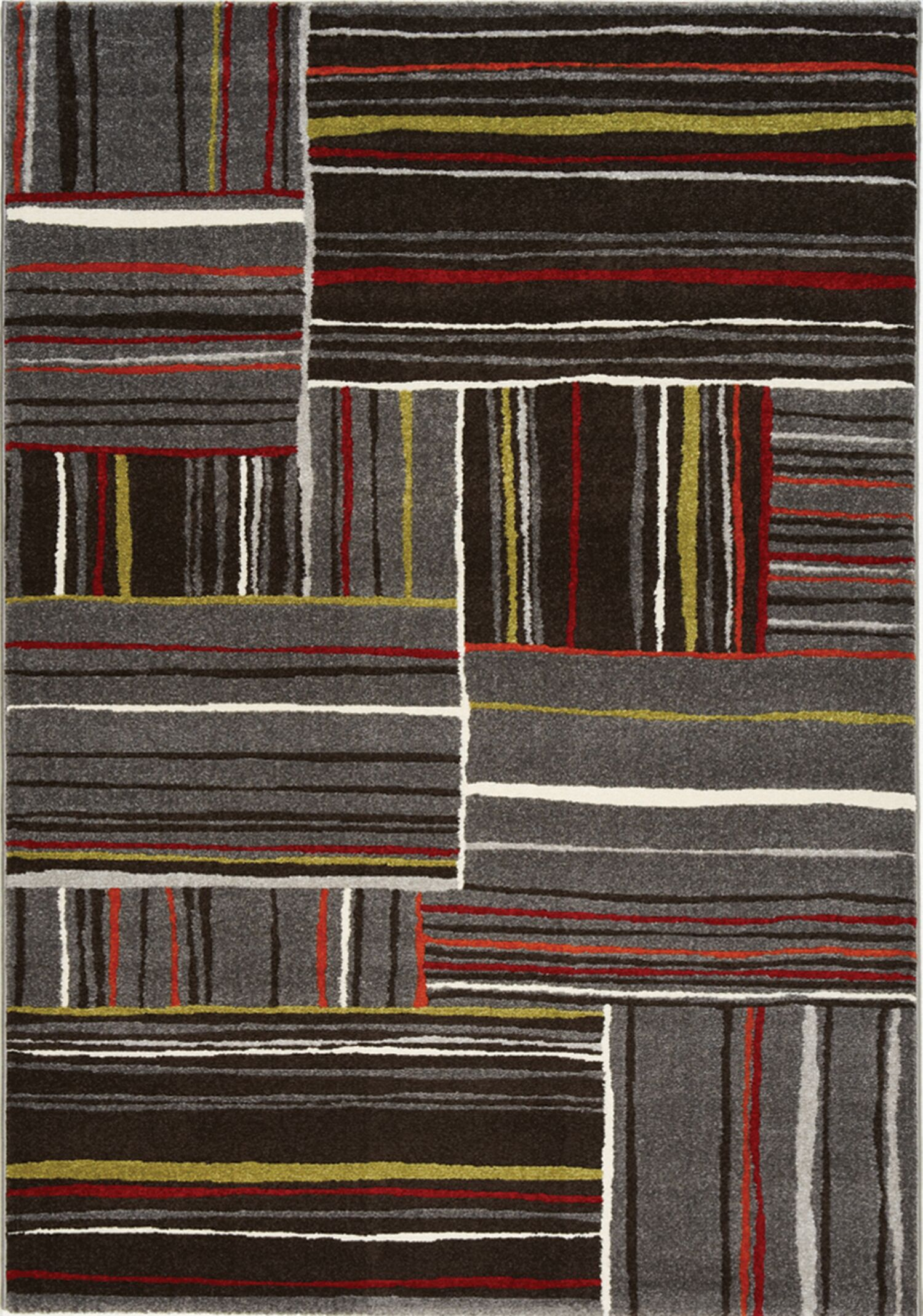 Rundall Red/Gray Area Rug Rug Size: 5'3