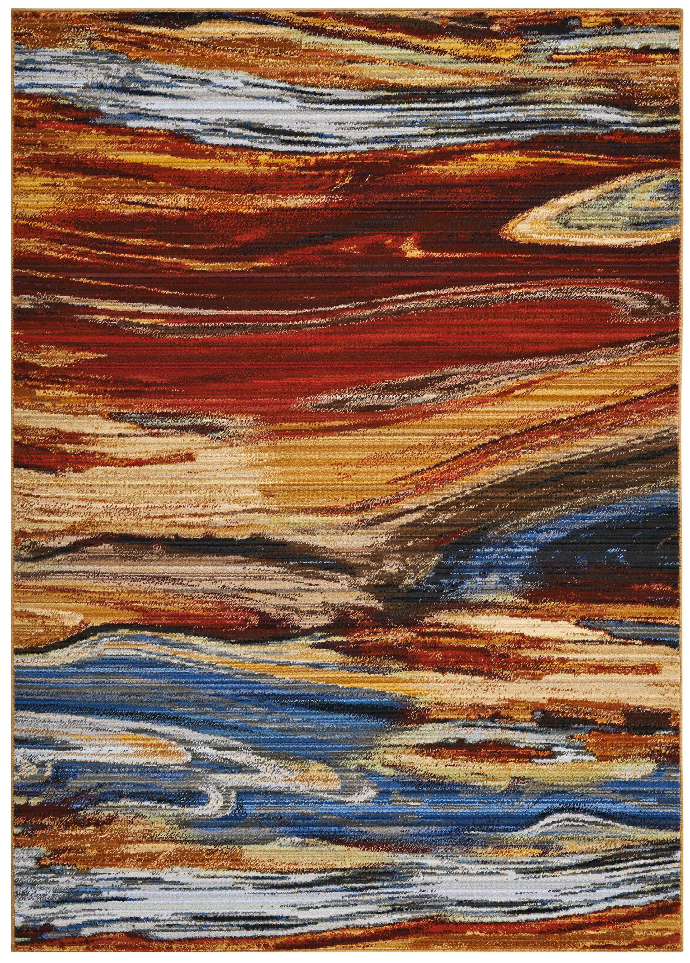 Ostby Lava Flow Area Rug Rug Size: Rectangle 5'6