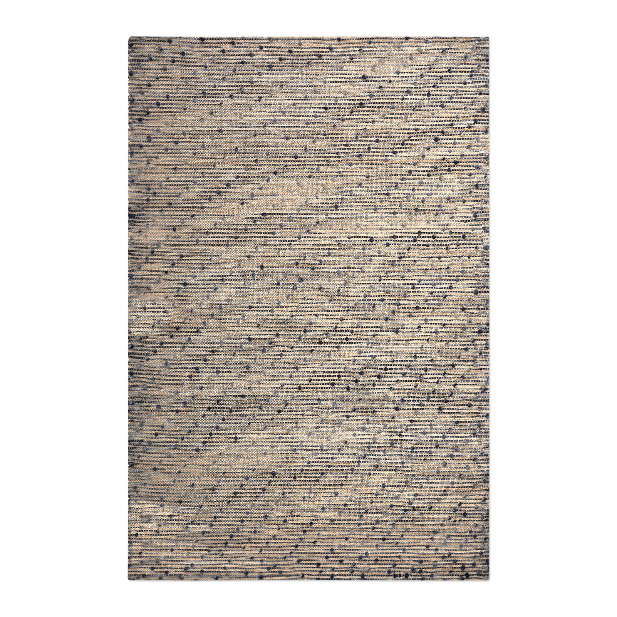 Dighton Hand-Woven Wool Beige/Navy Area Rug Rug Size: 5' x 8'
