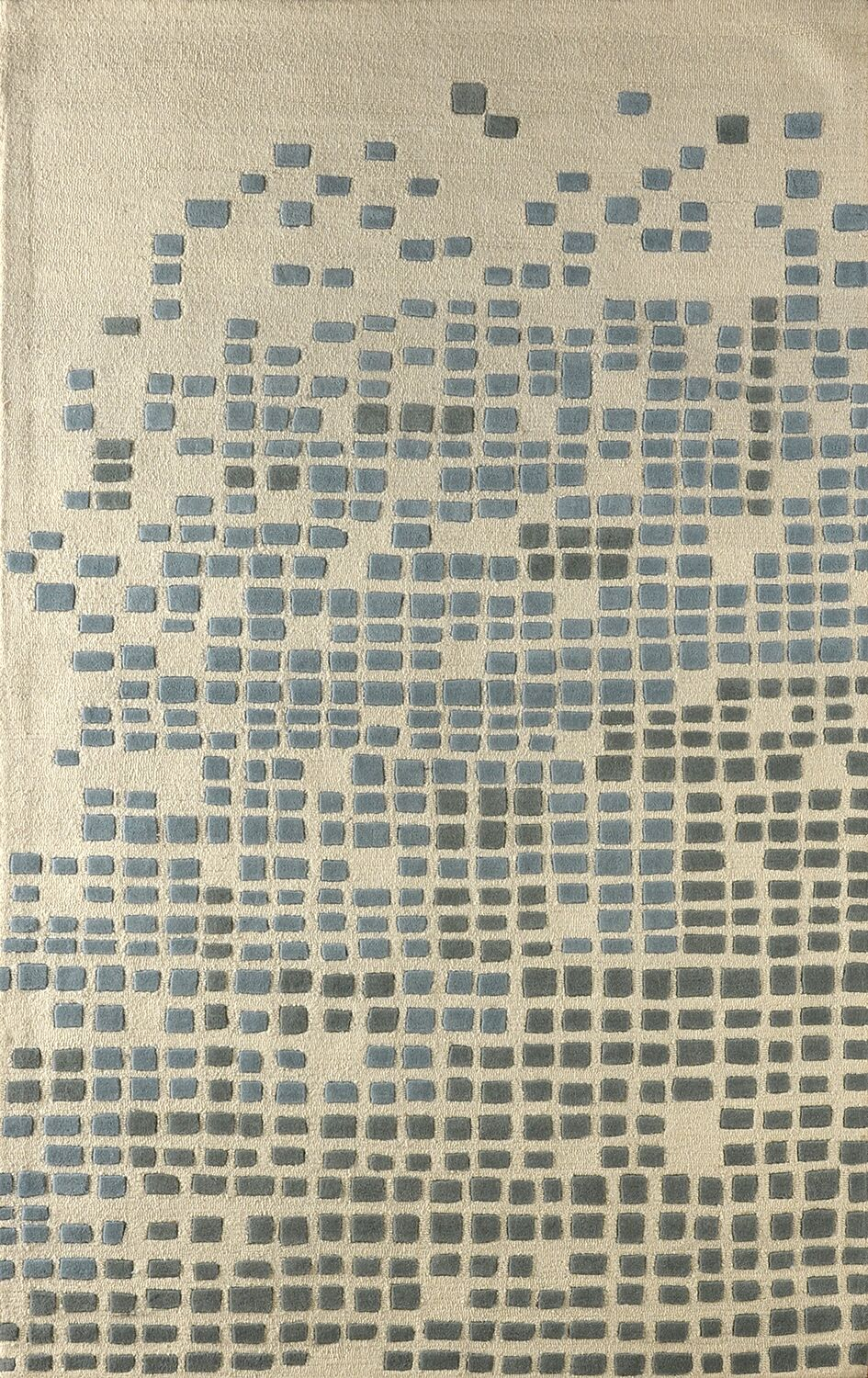 Clara Hand-Tufted Sky Area Rug Rug Size: Rectangle 5' x 8'