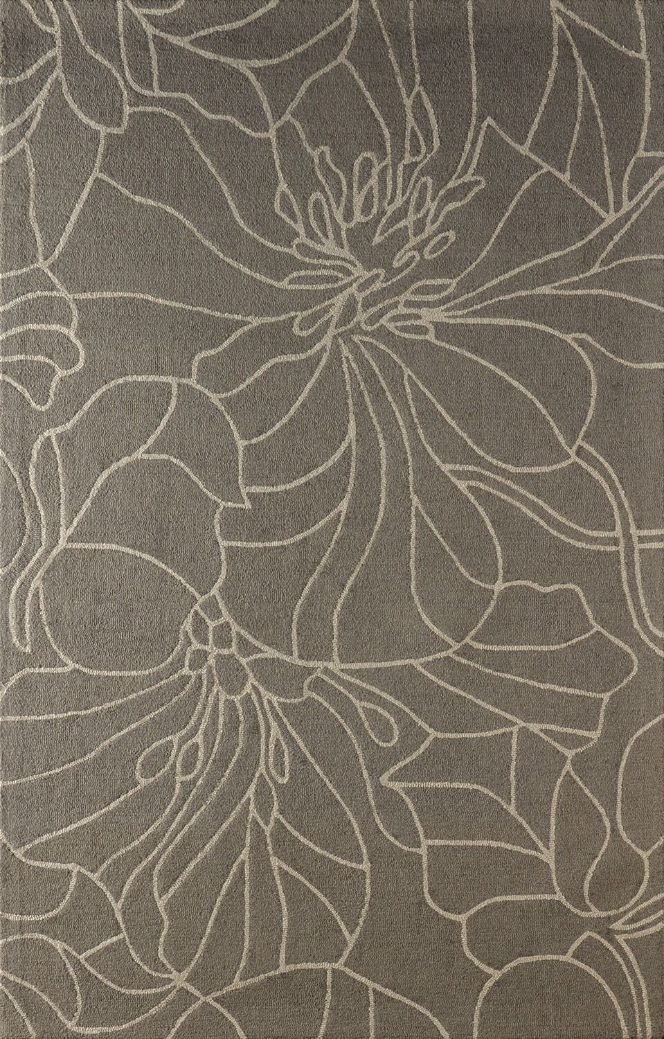 Gina Hand-Tufted Soot Area Rug Rug Size: Rectangle 5' x 8'