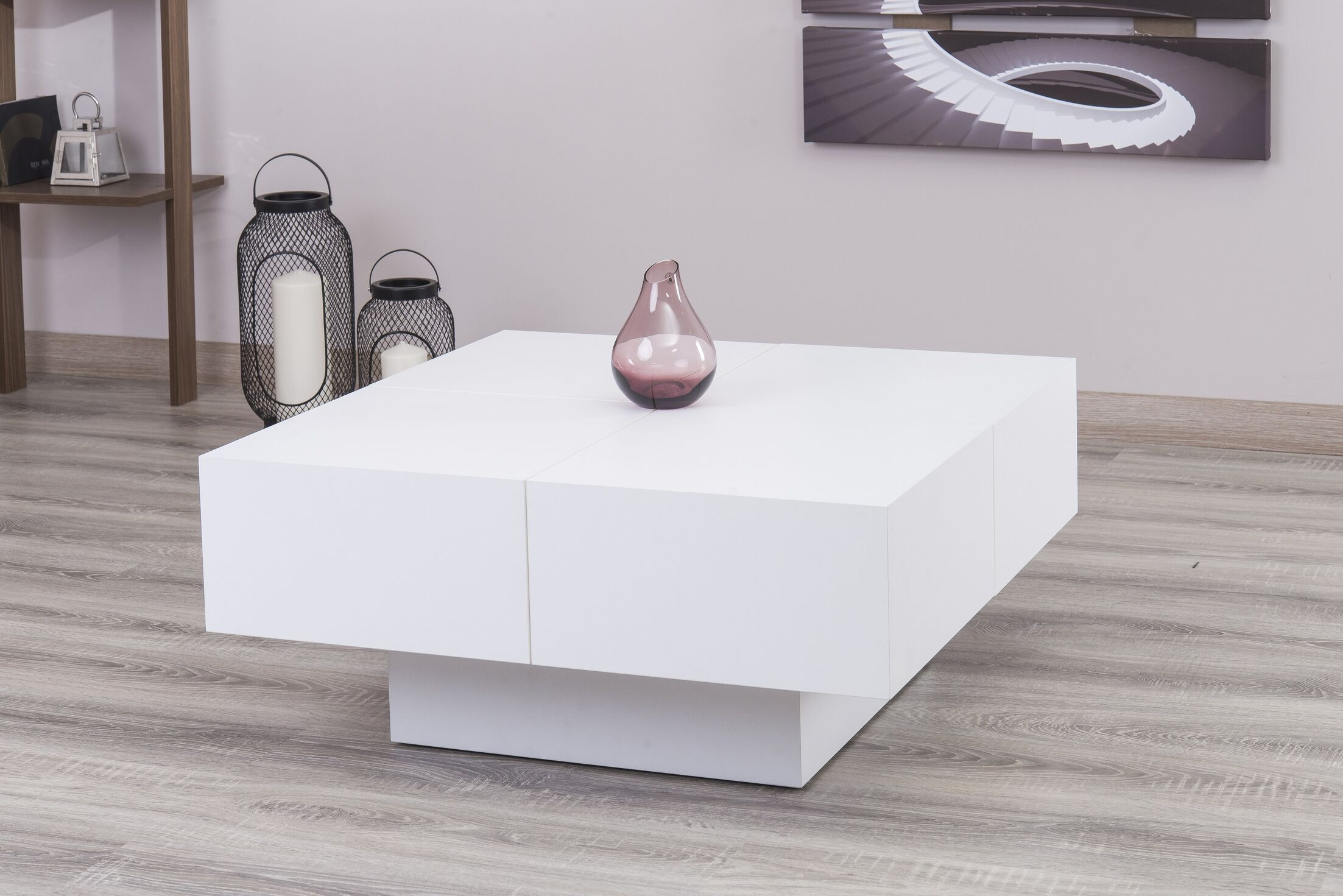 Pickrell Modern Coffee Table Color: White Lacquer