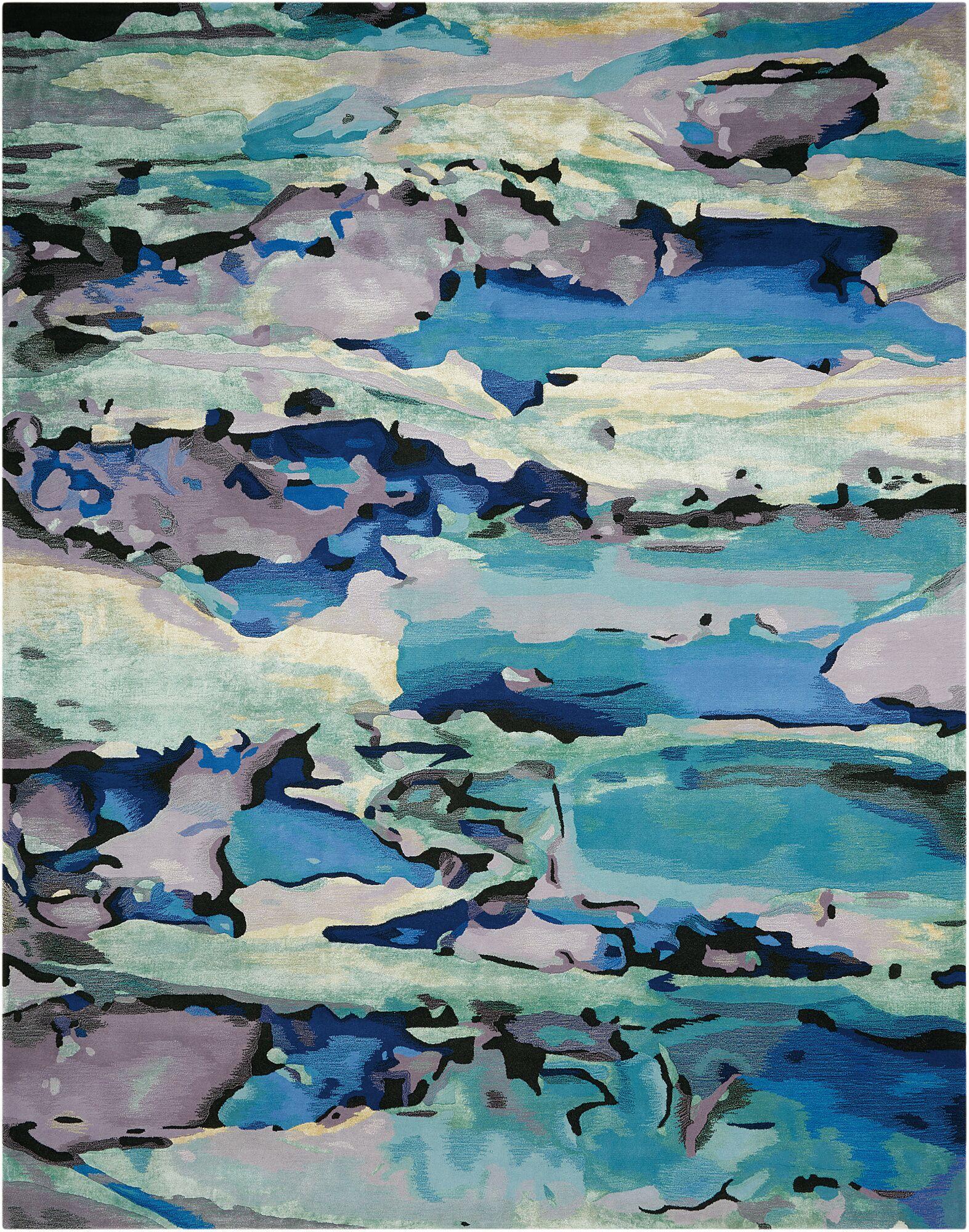 Annan Handmade Blue Area Rug Rug Size: Rectangle 7'9