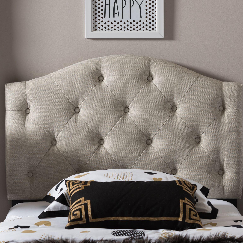 Lindeman Twin Upholstered Panel Headboard Upholstery: Light Beige
