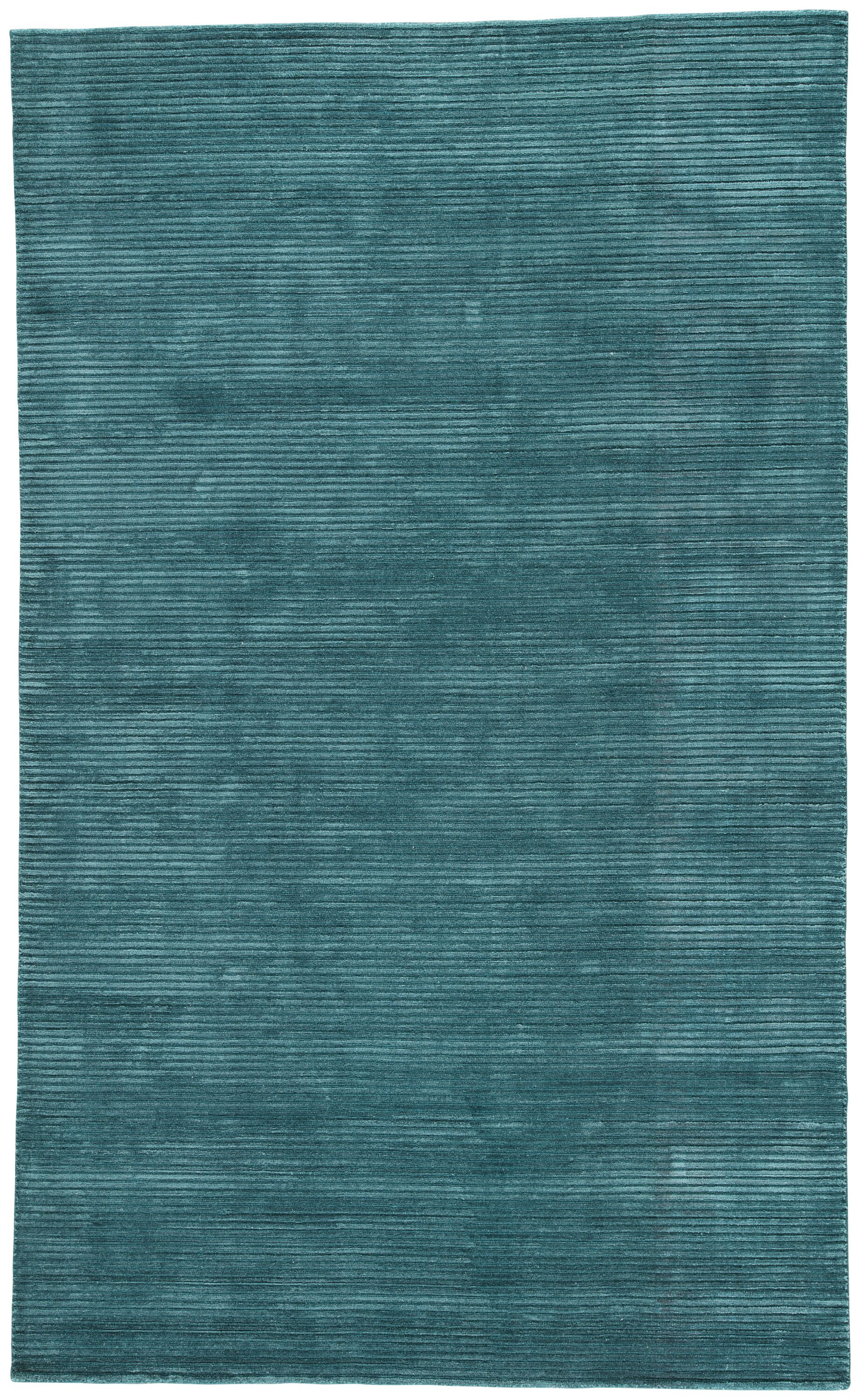 Nico Wool and Art Silk Solids/Handloom Blue Area Rug Rug Size: Rectangle 8' x 10'