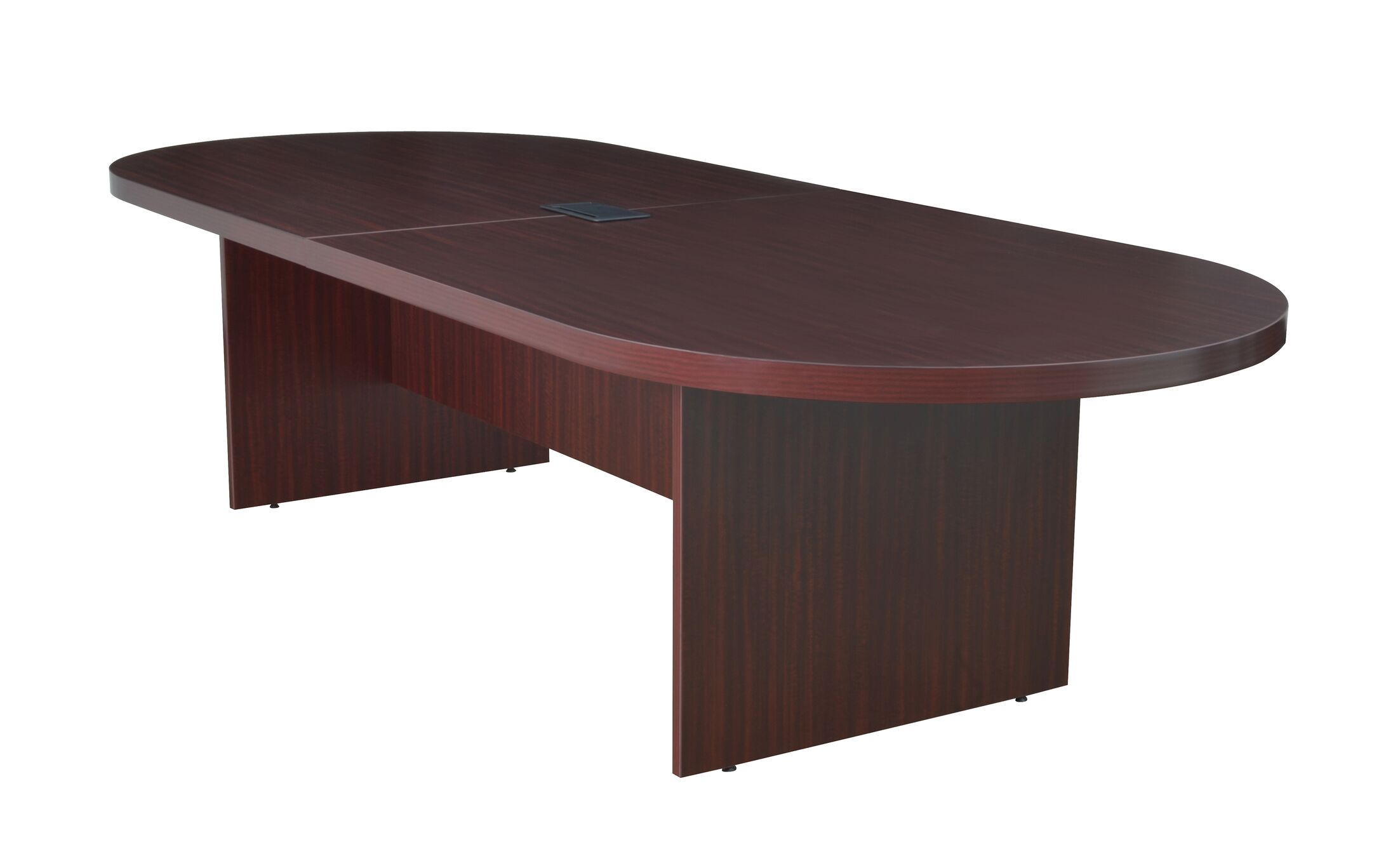 Linh Oval Wood Conference Table Finish: Mahogany, Size: 20' L