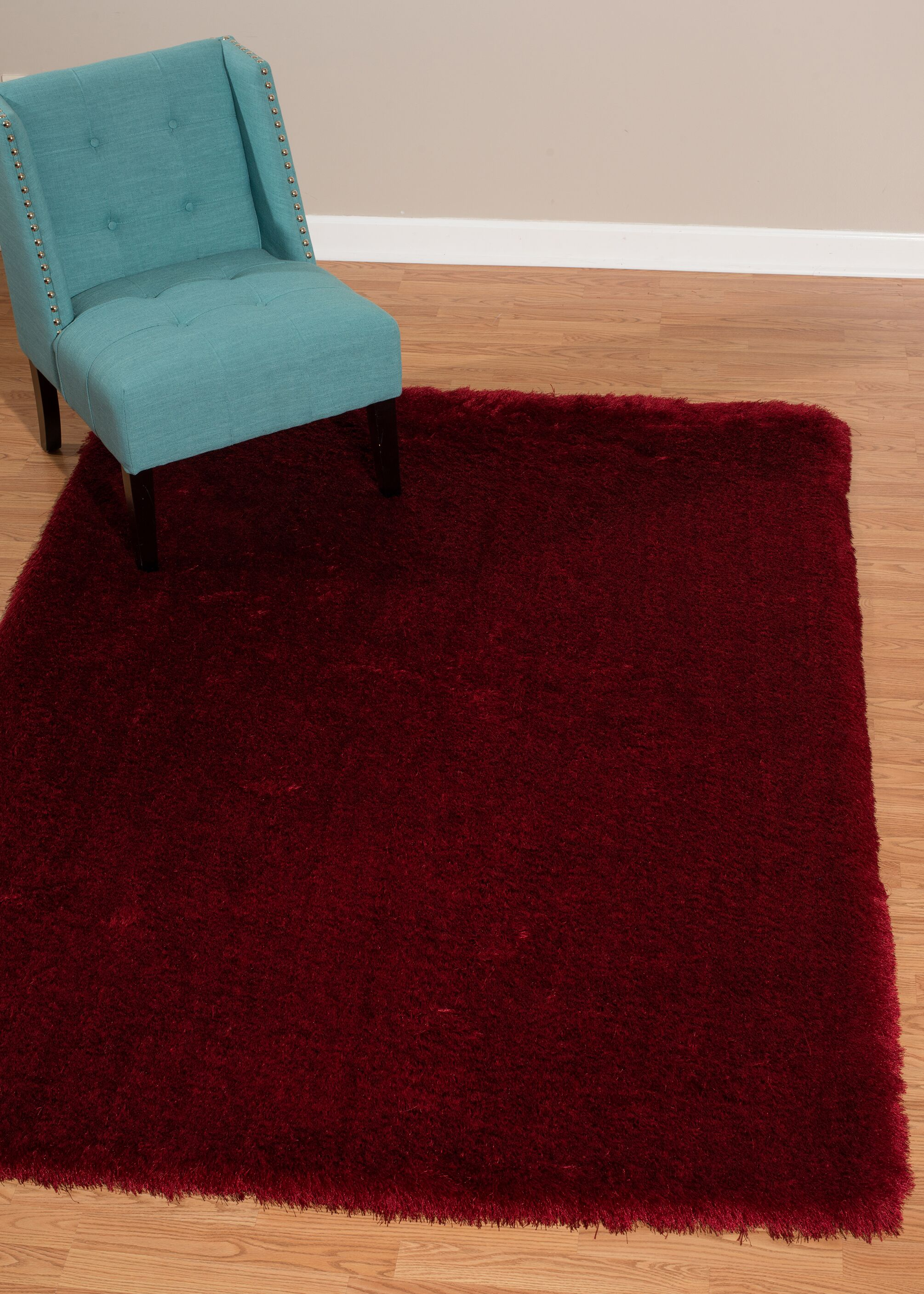 Kristian Red Area Rug Rug Size: Rectangle 5'3