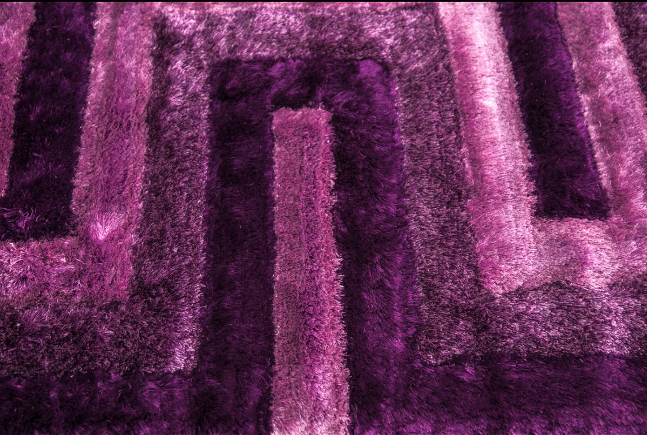 Letson Shaggy Hand-Tufted Purple Area Rug Size: 36