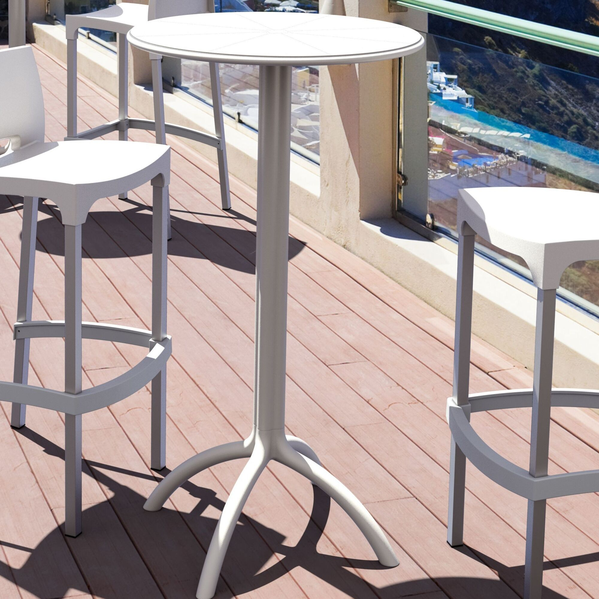 Seitz Bar Table Finish: White