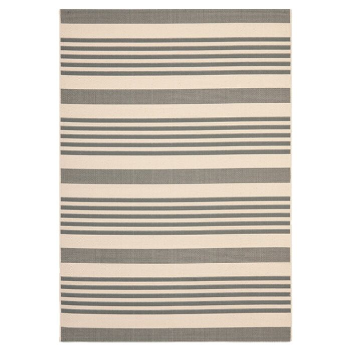 Sophina Gray/Beige Indoor/Outdoor Area Rug Rug Size: Rectangle 6'7