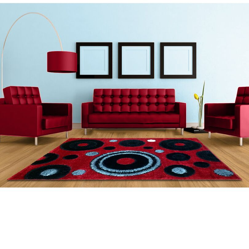 Red Area Rug Rug Size: 8' x 11'