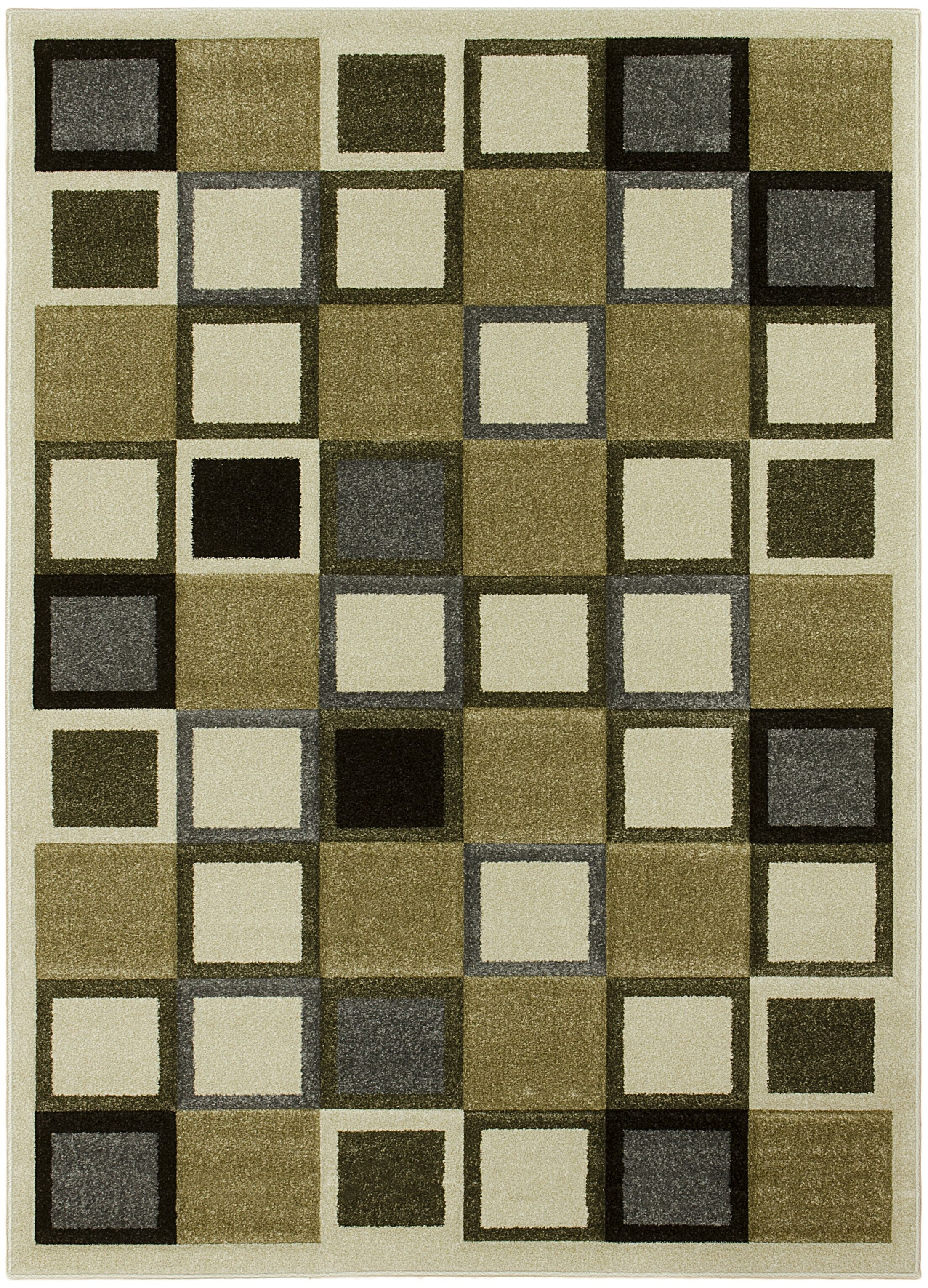 Geometric Ivory Area Rug Rug Size: 8' x 11'