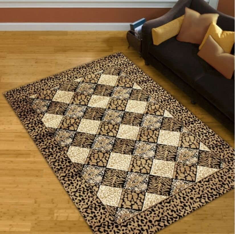 Gold Area Rug Rug Size: 5' x 8'
