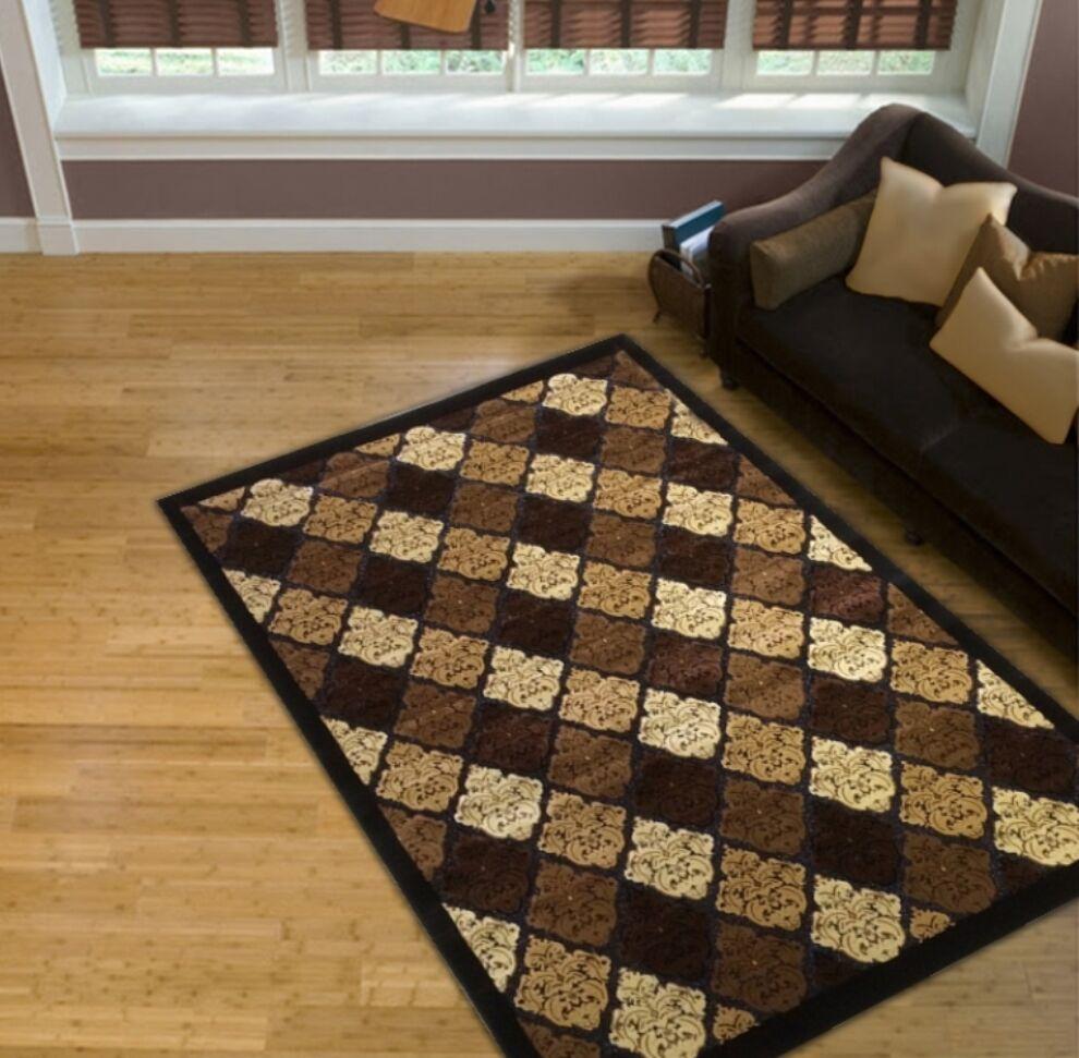 Brown Area Rug Rug Size: 8' x 11'