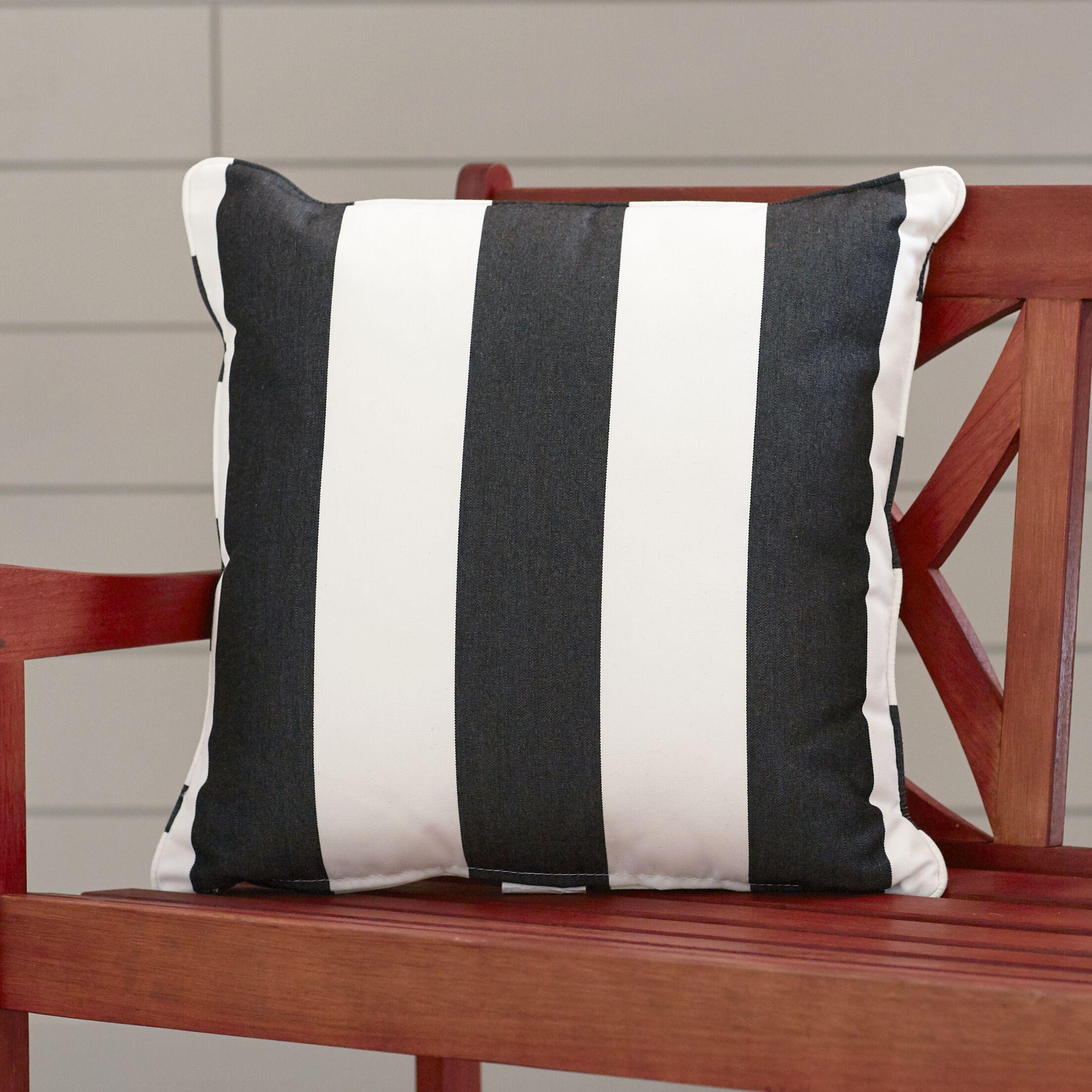 Outdoor Throw Pillow Color: Cabana Classic, Width: 22