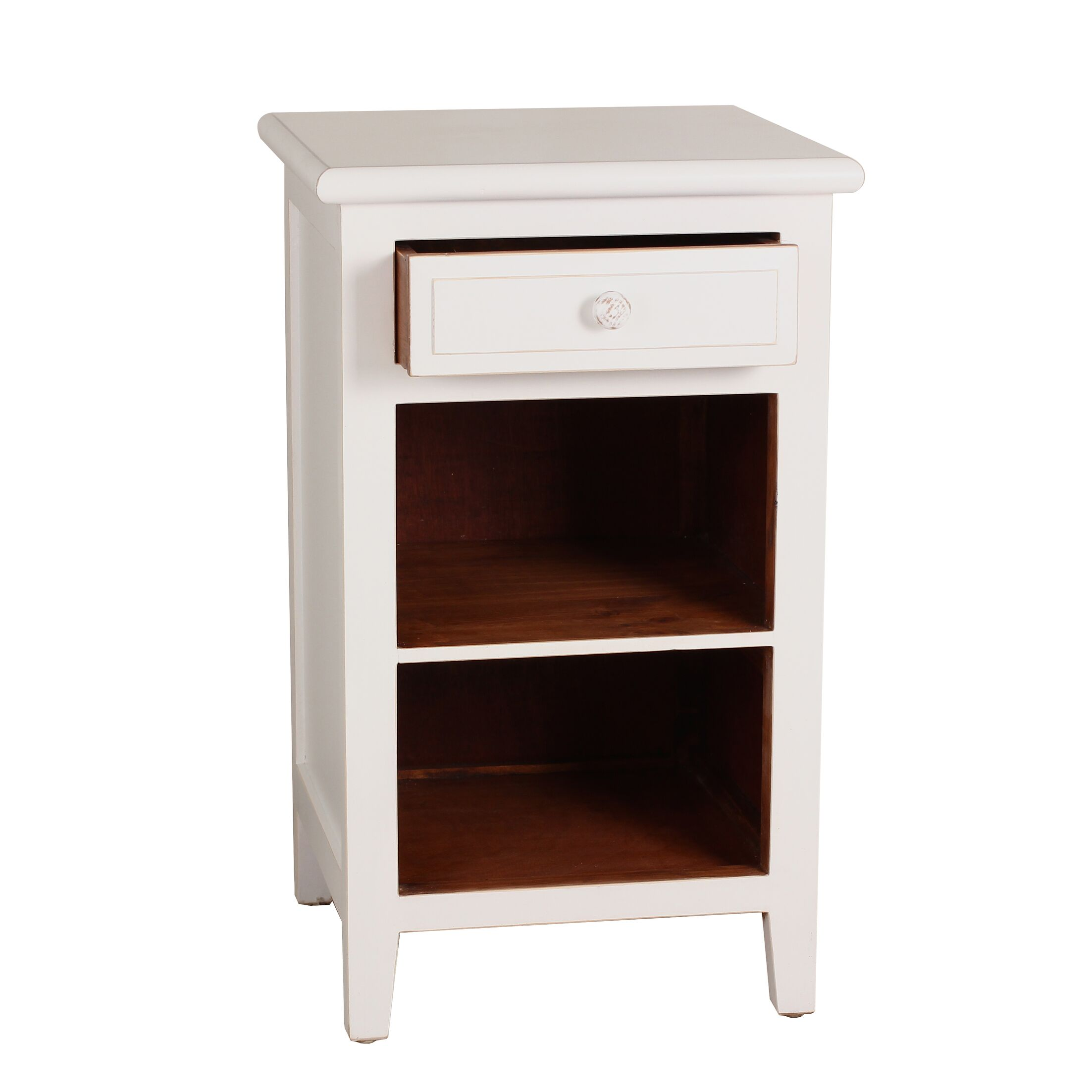 Xander End Table Color: White