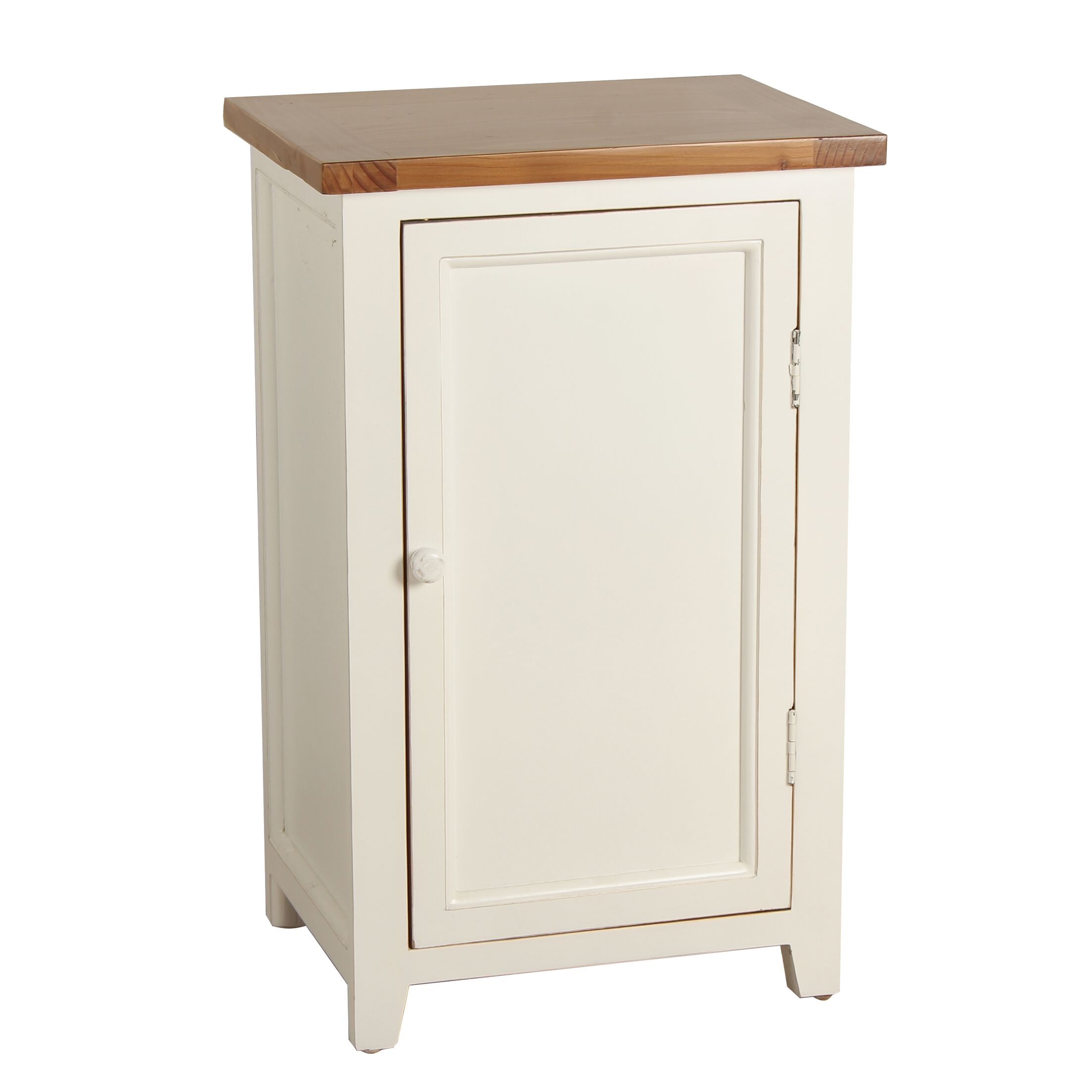 Eleanor End Table Color: White