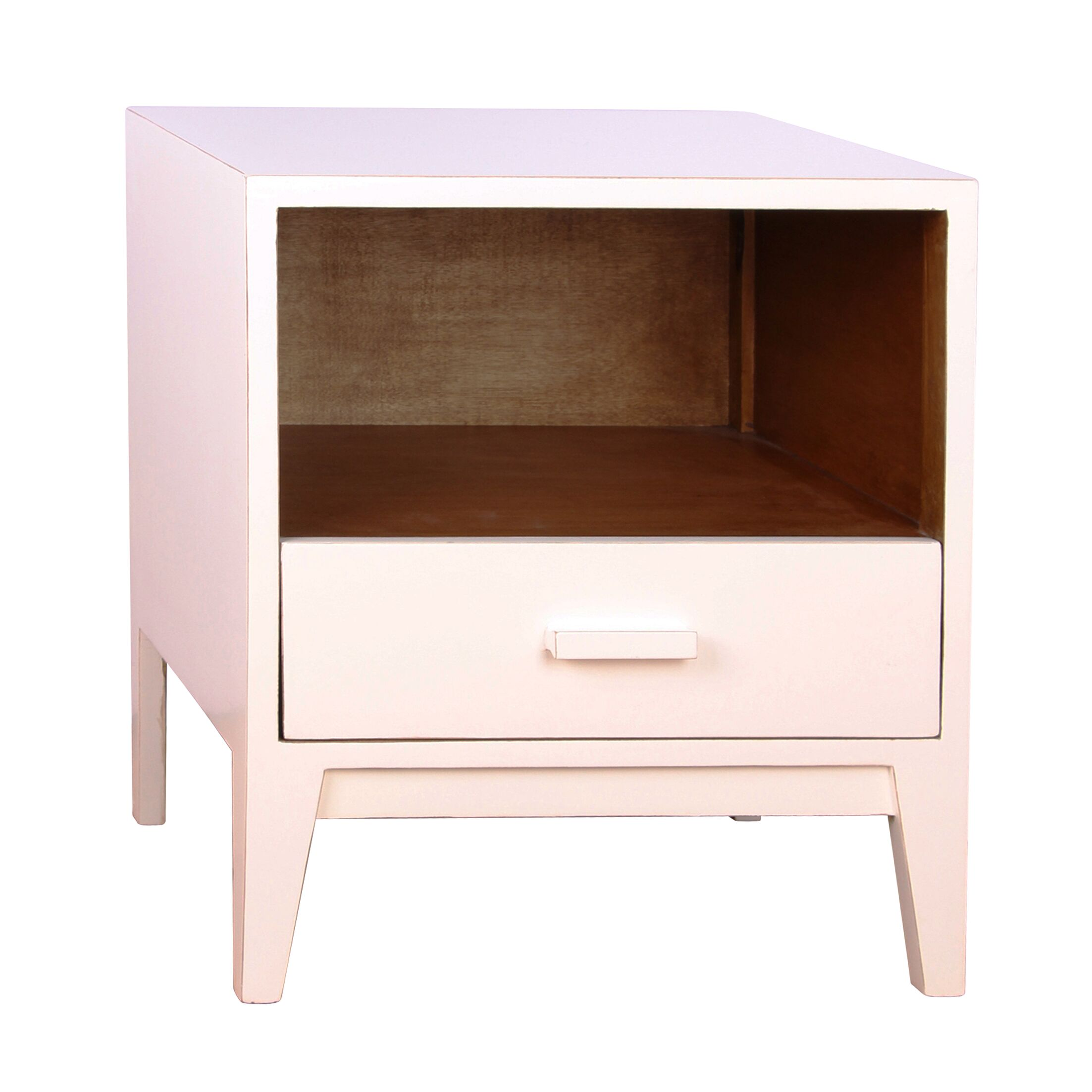 Jude 1 Drawer Nightstand Color: White