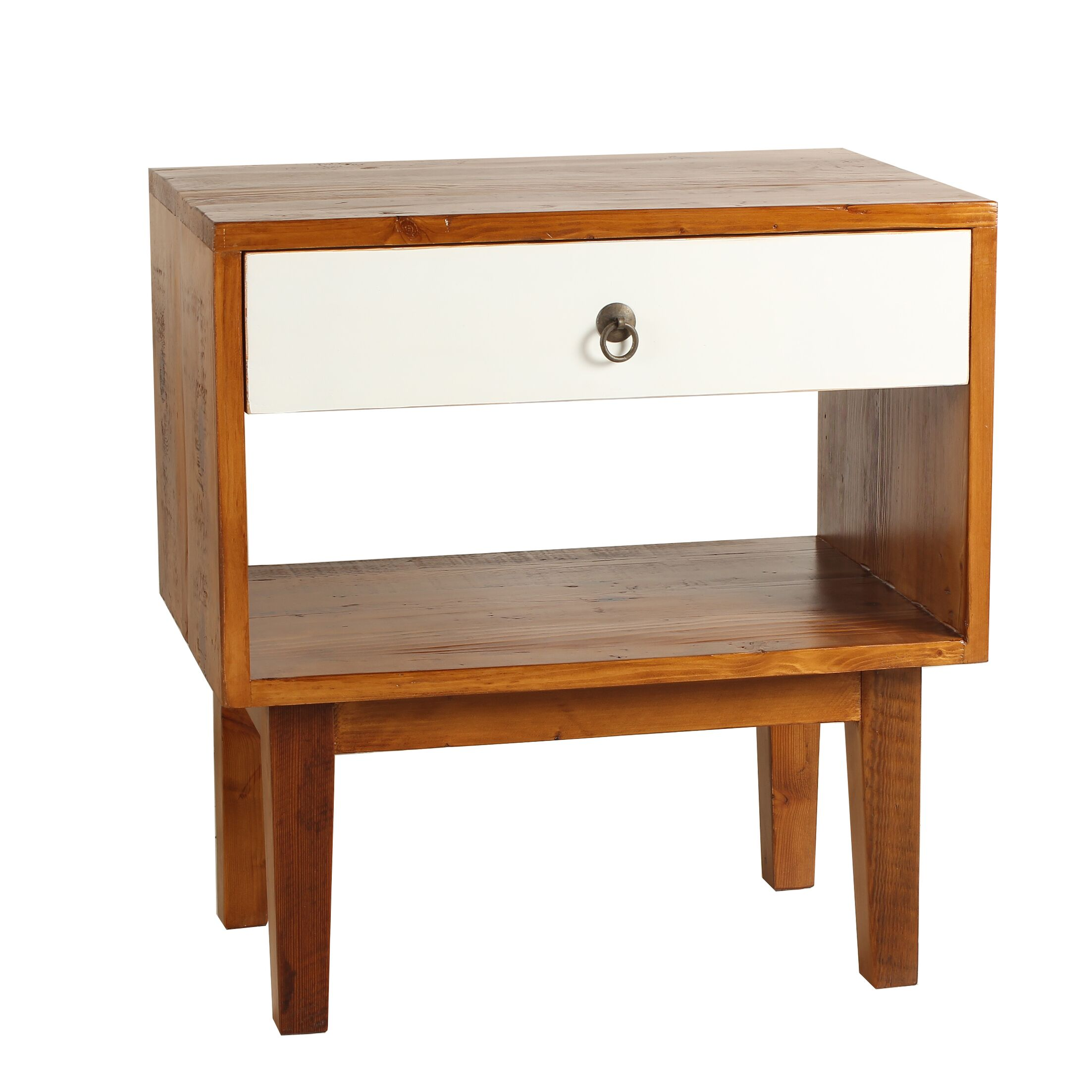 Shiloh End Table Color: White