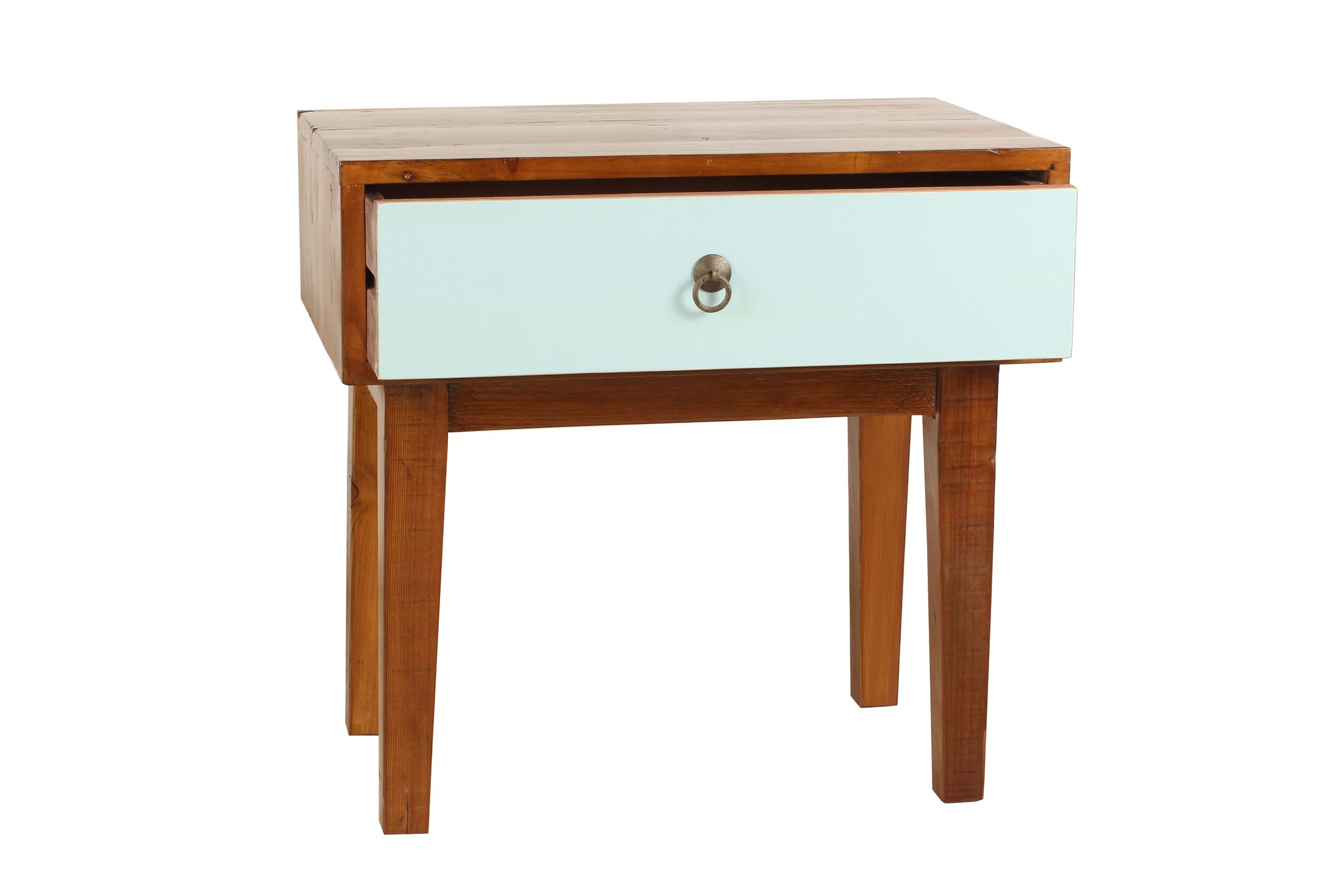 Giana End Table Color: Aqua