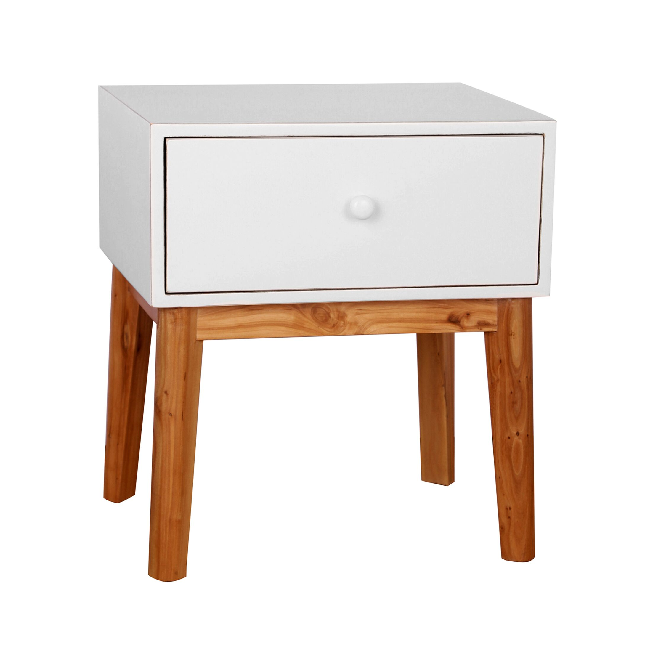Connell End Table Color: White