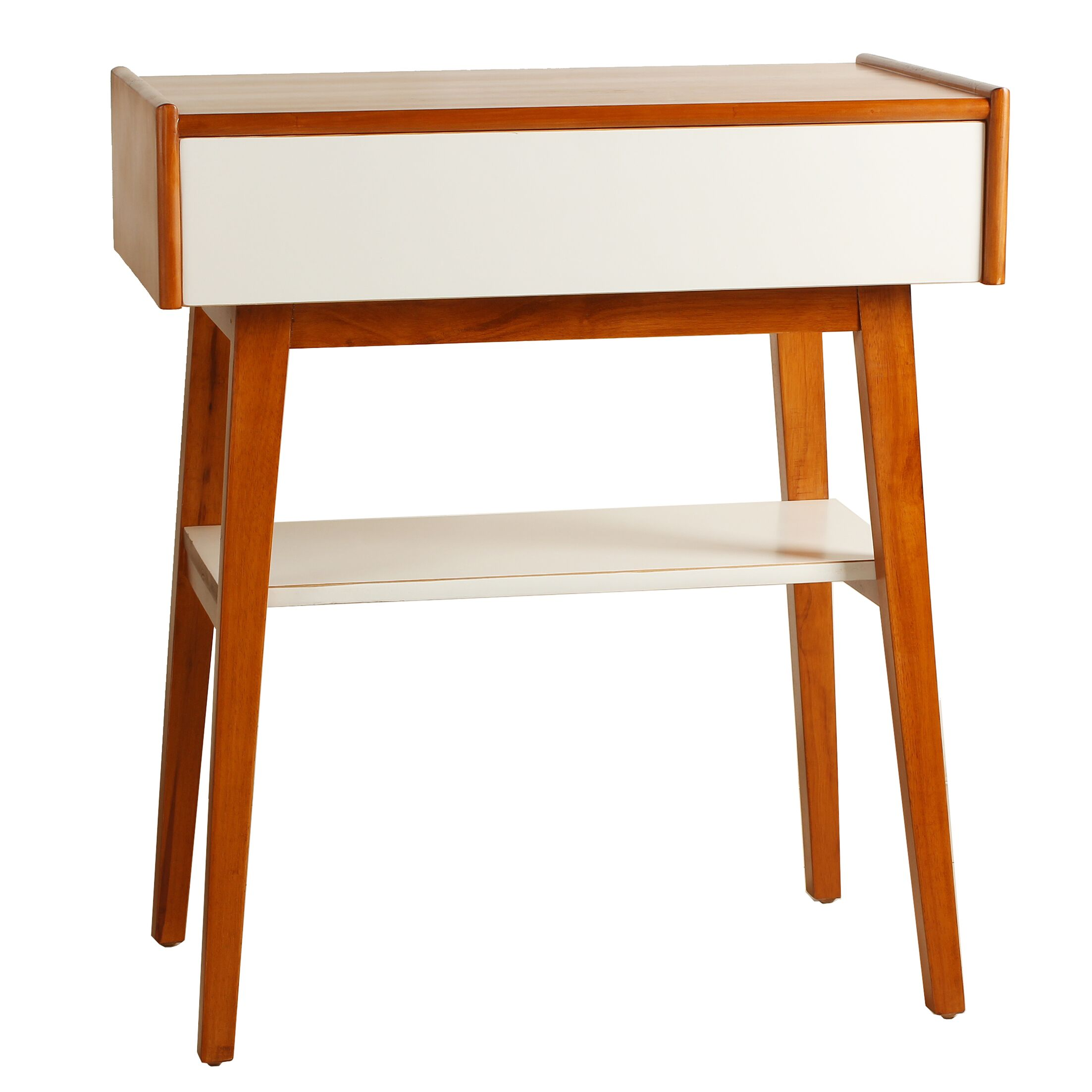 Penelope End Table Color: White